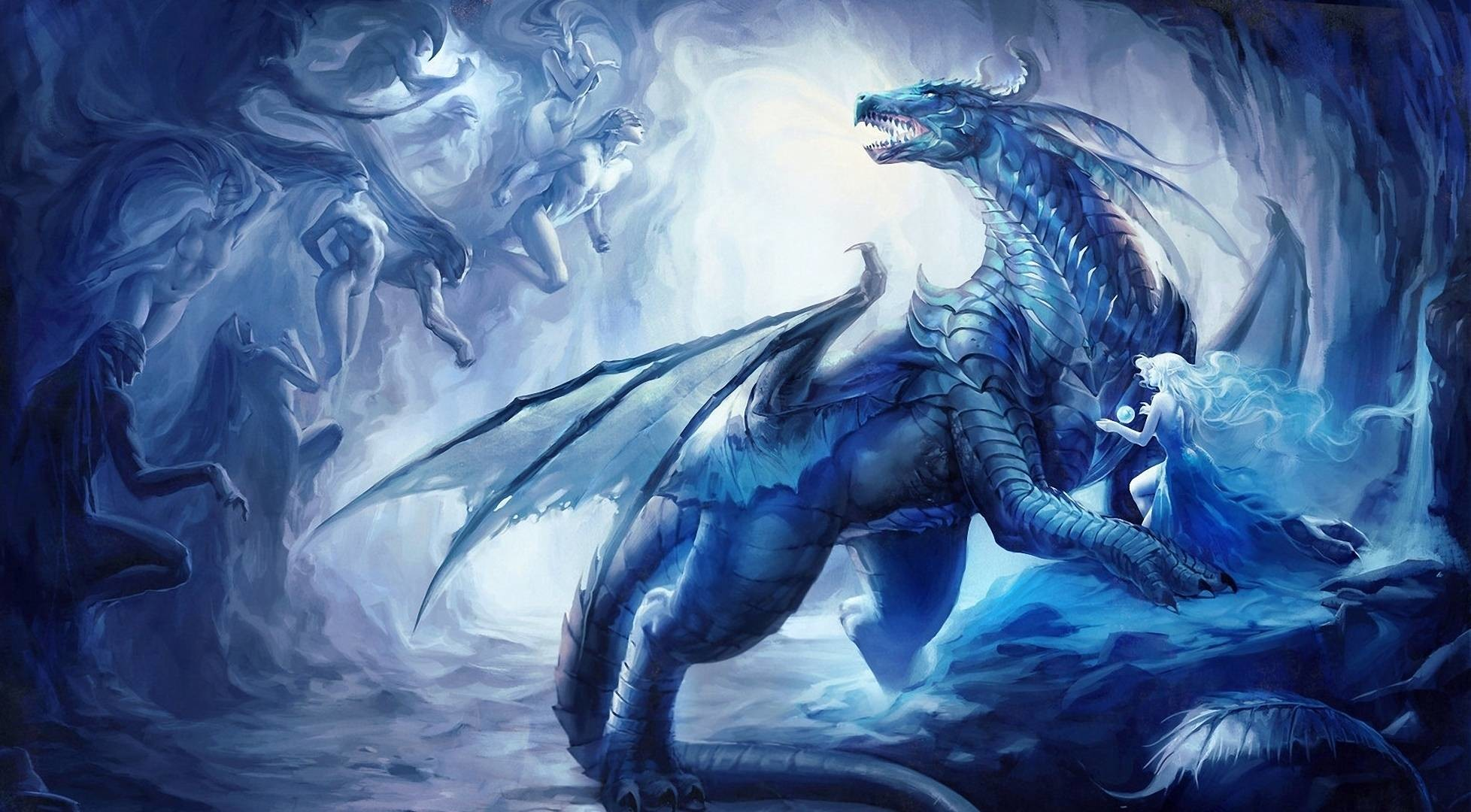 1956x1080 ice dragon - Google Search