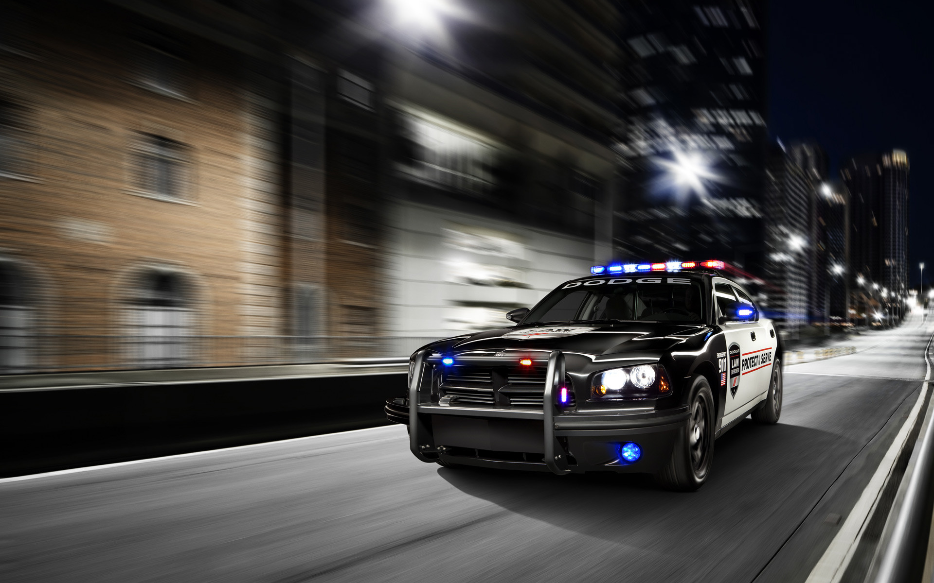 1920x1200 Dodge Charger Police Car Wallpaper
