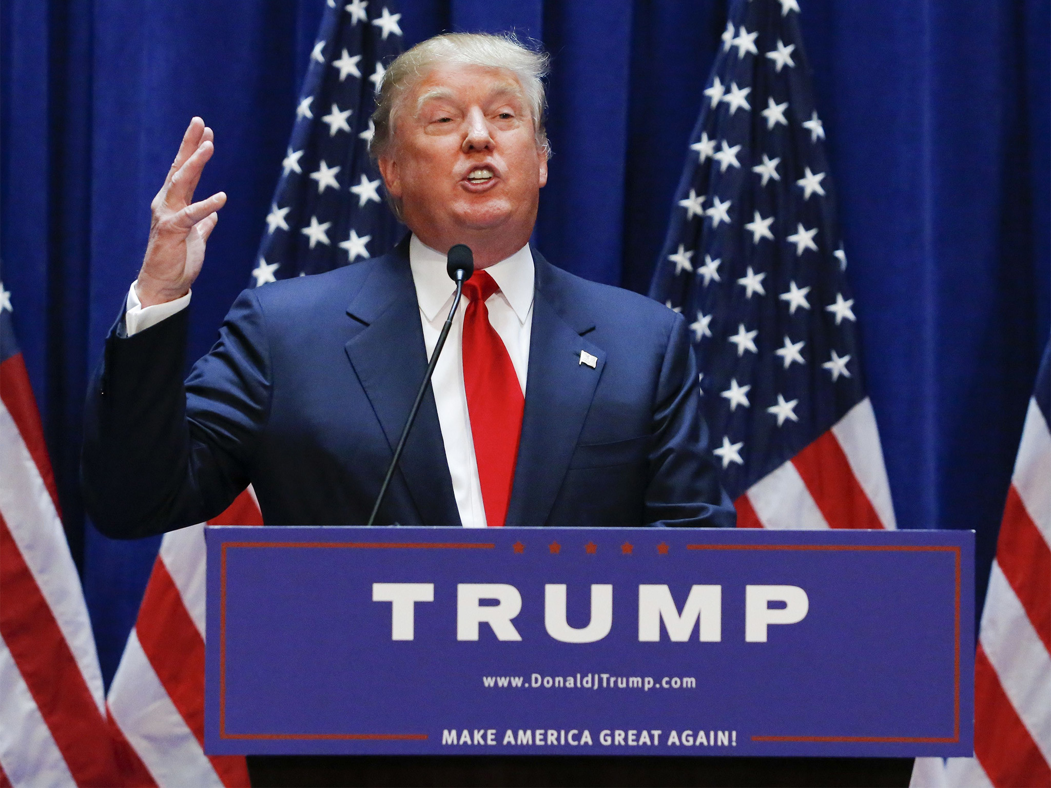 2048x1536 Donald Trump: Business magnate and reality TV star announces he will run  for White House | The Independent