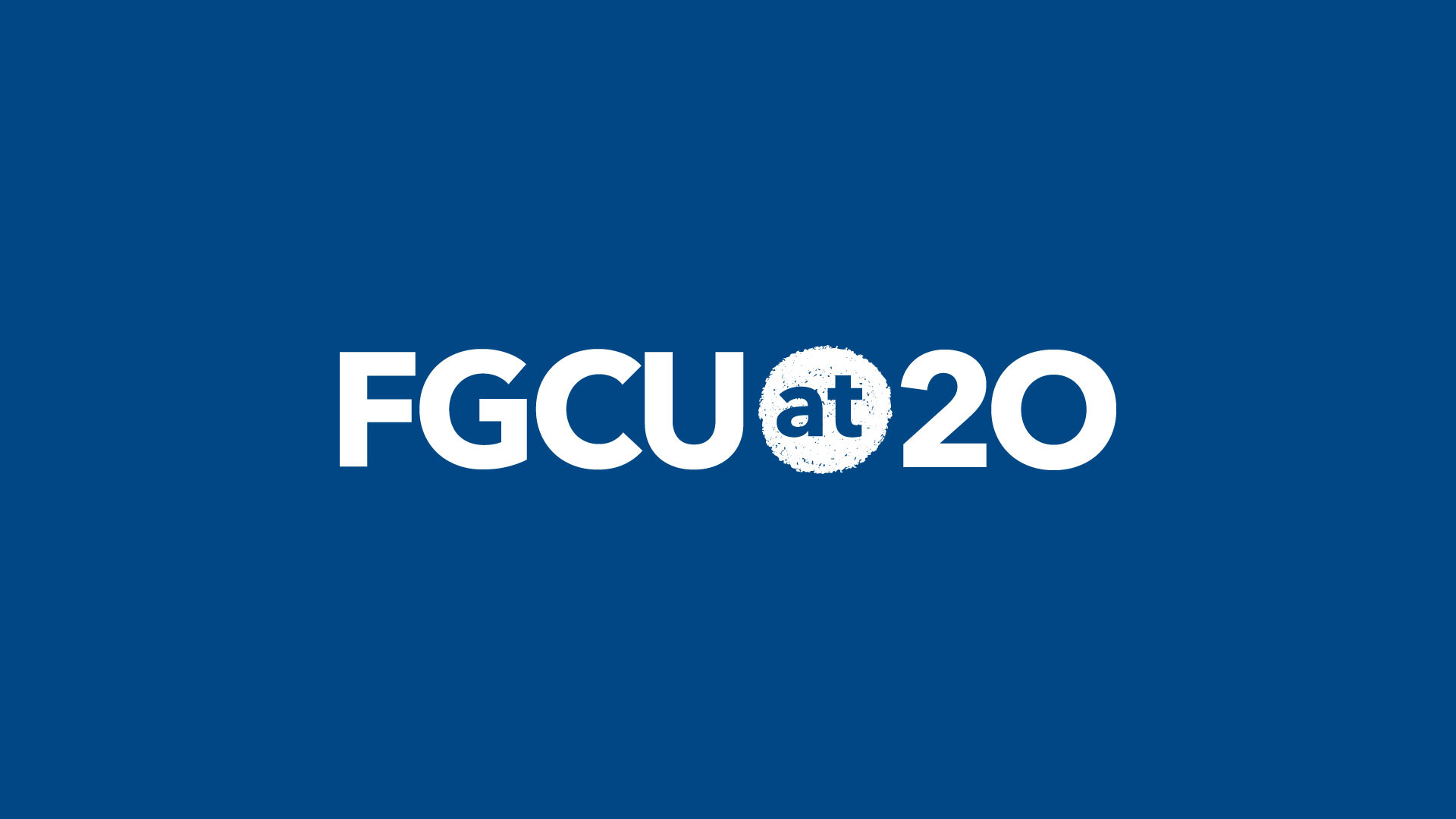 1920x1080 FGCU at 20 Logo Background