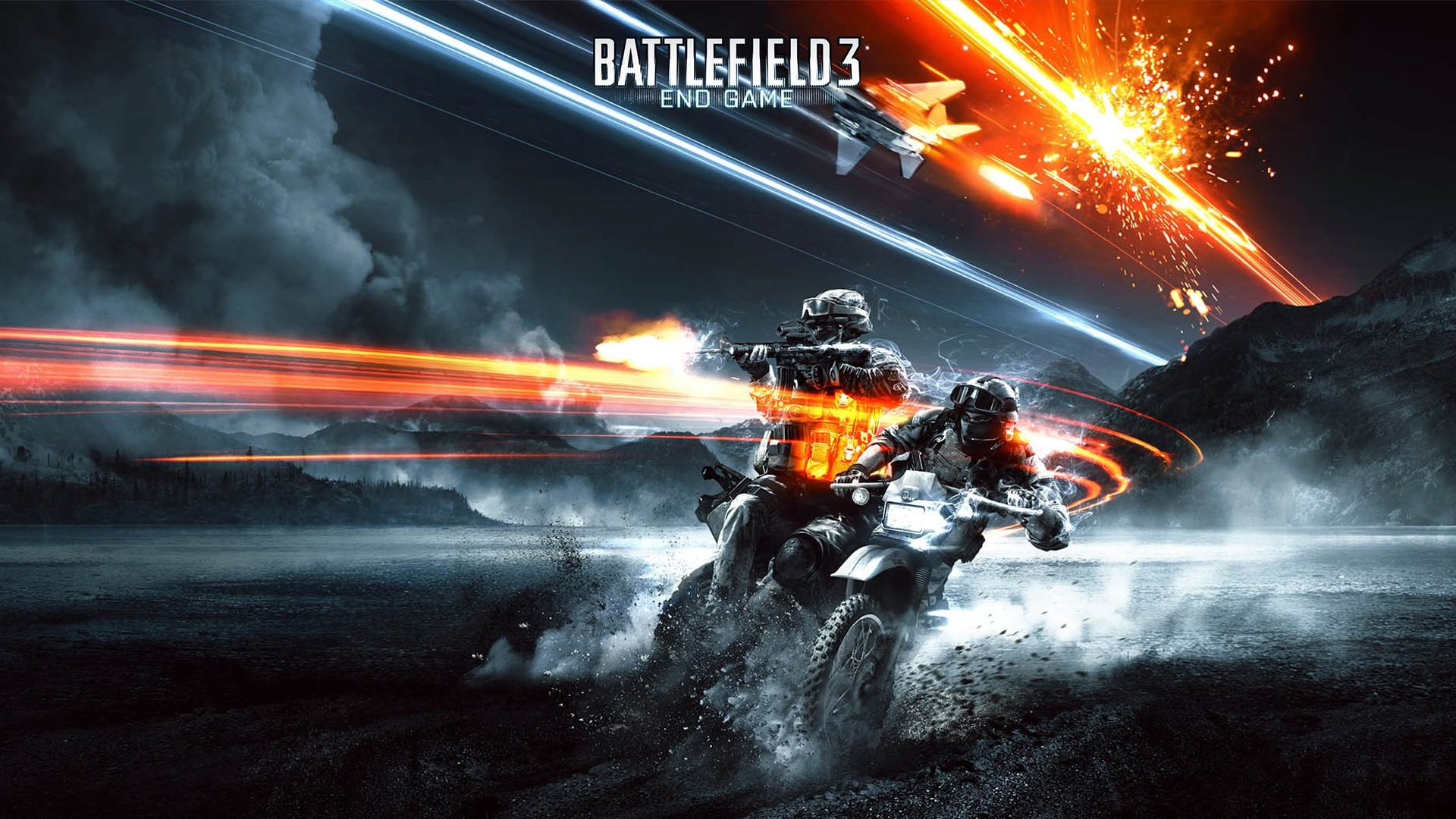 1920x1080 battlefield 3 motorcycle shooting poster