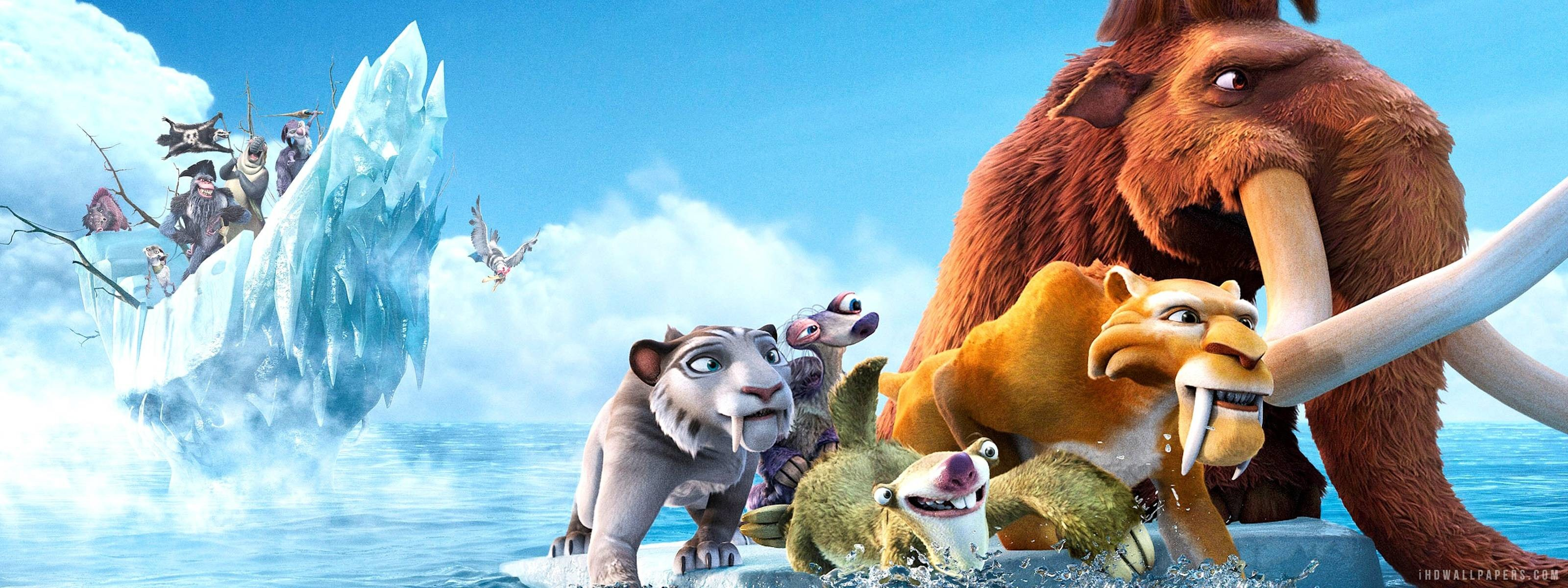 3200x1200 Images For > Ice Age Wallpaper Hd