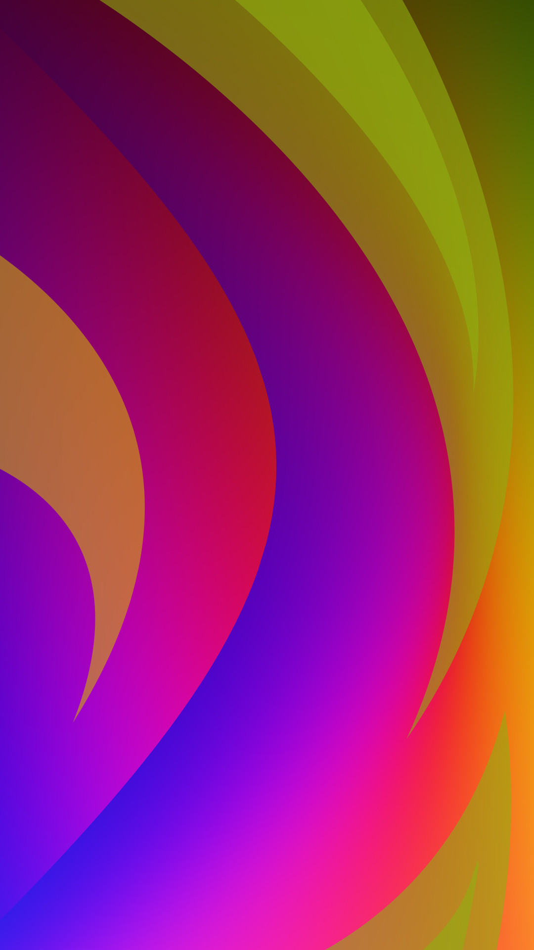 1080x1920 Rainbow colored curves Wallpaper