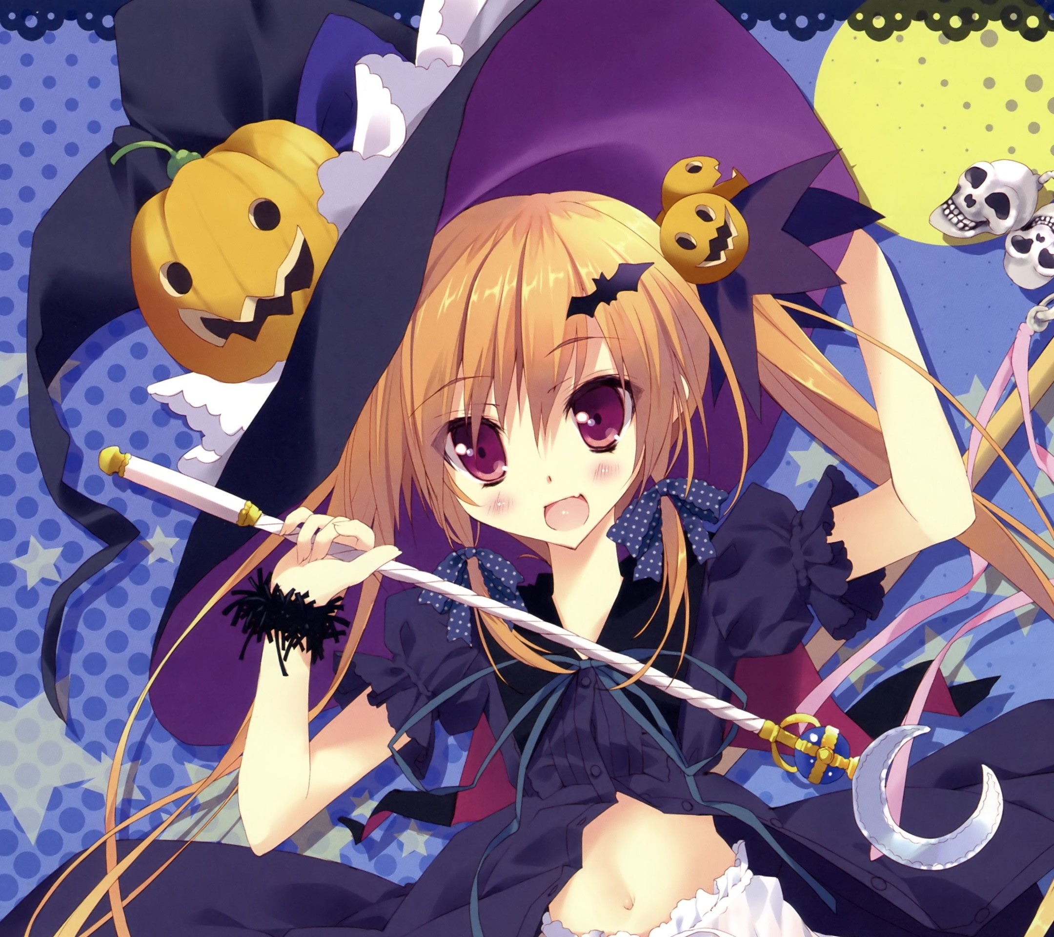 2160x1920 Anime Halloween 2013.Android wallpaper.