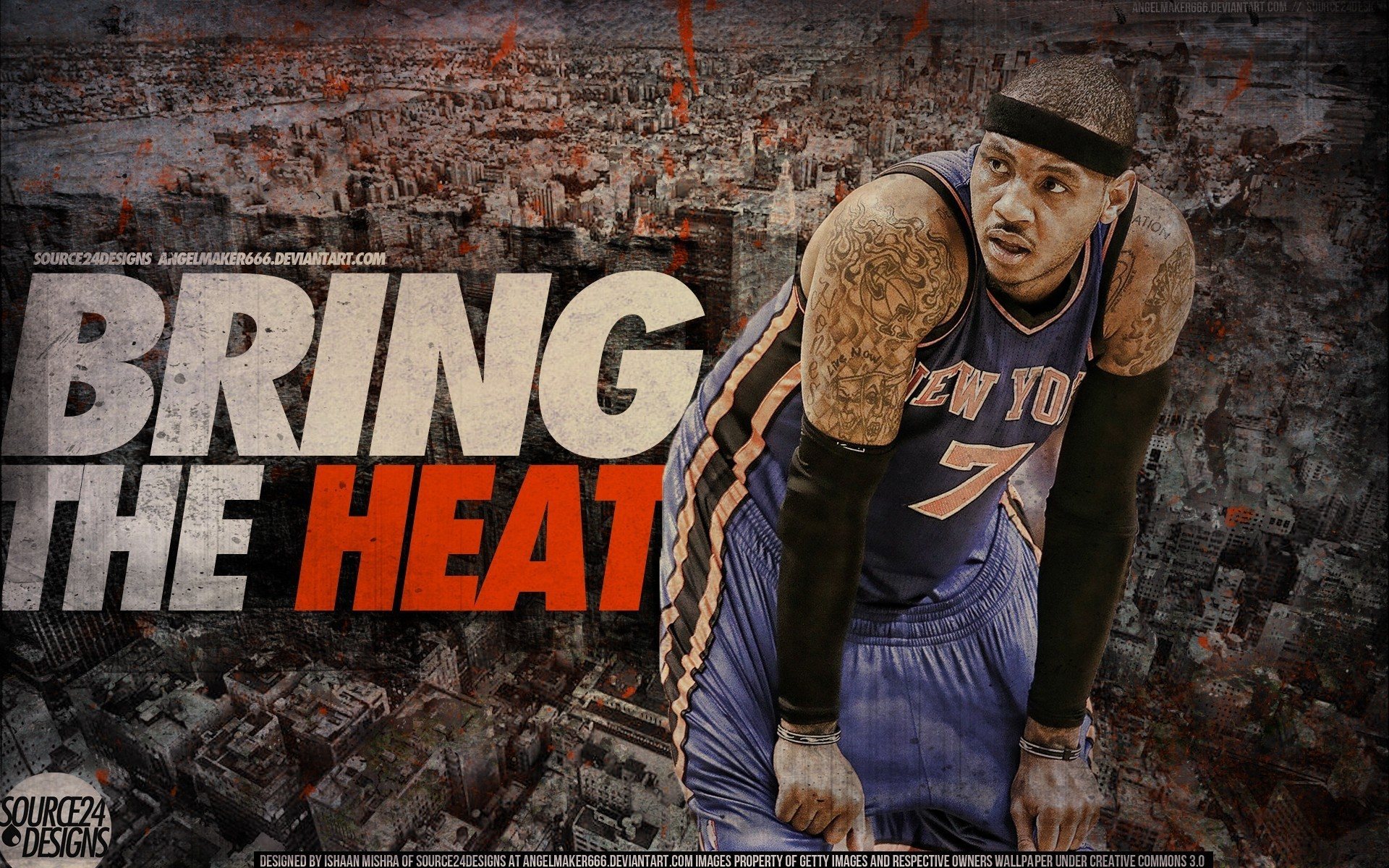 1920x1200 Carmelo anthony nba new york knicks wallpaper