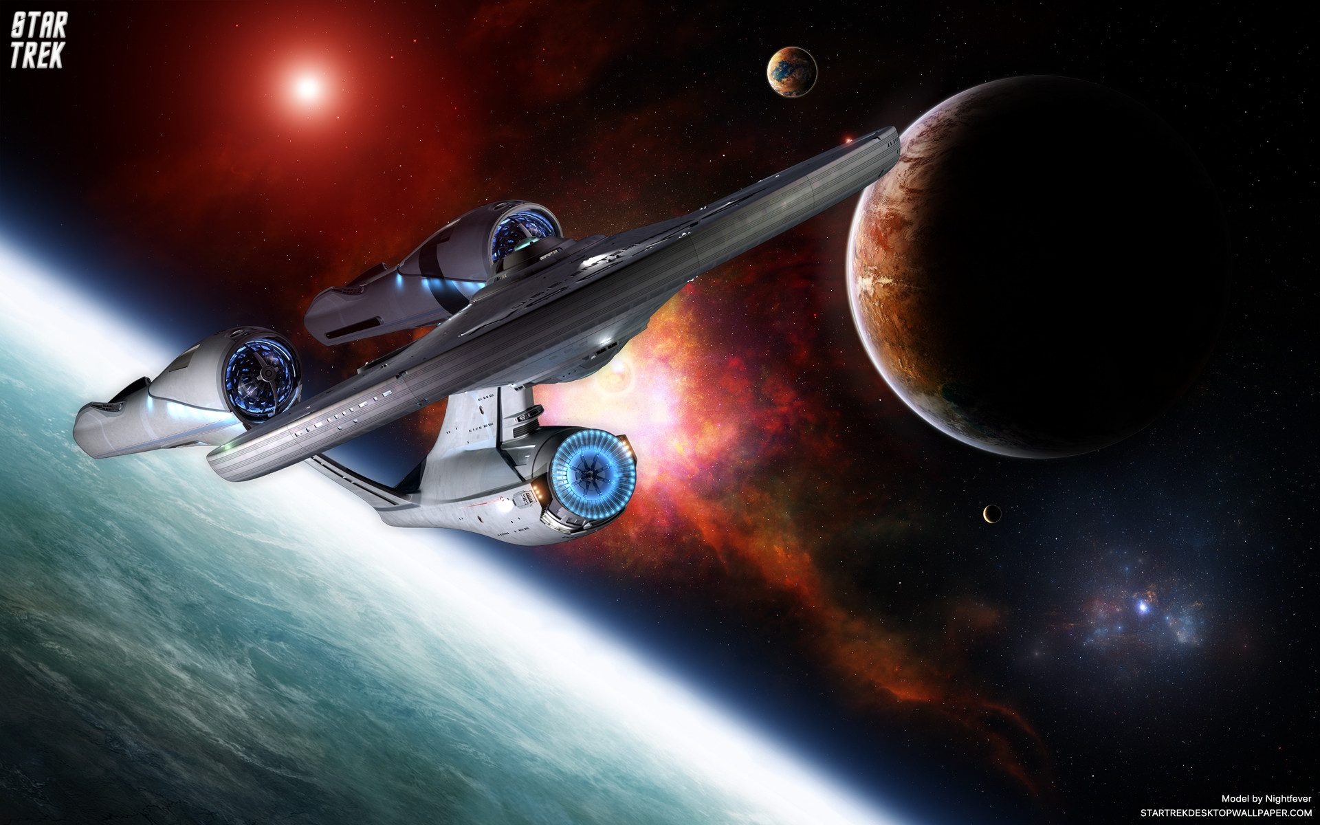 1920x1200 Star Trek USS Enterprise Discovering New Planets. Free Star Trek computer  desktop wallpaper, images