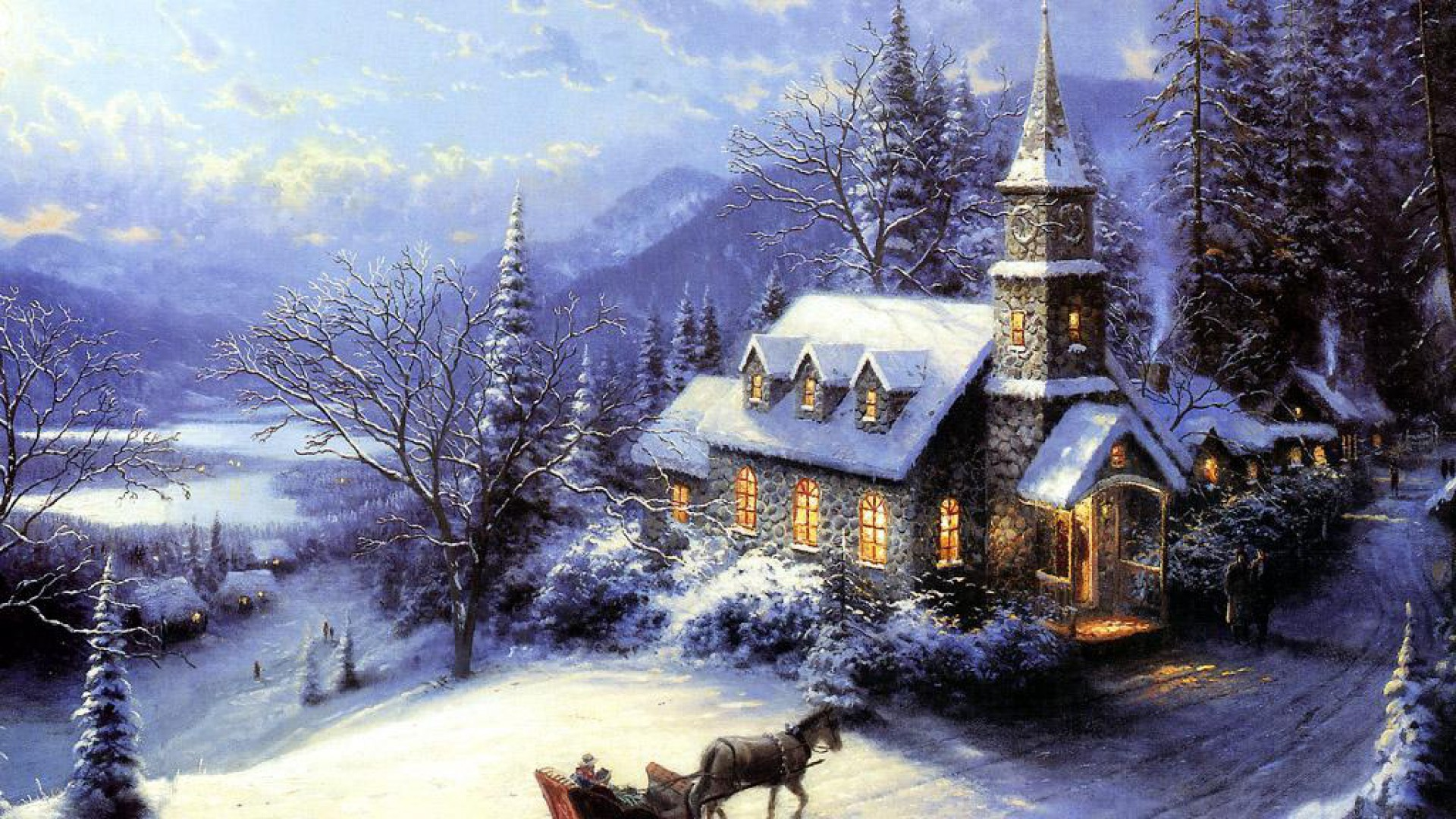 Winter Christmas Wallpaper 63 Images