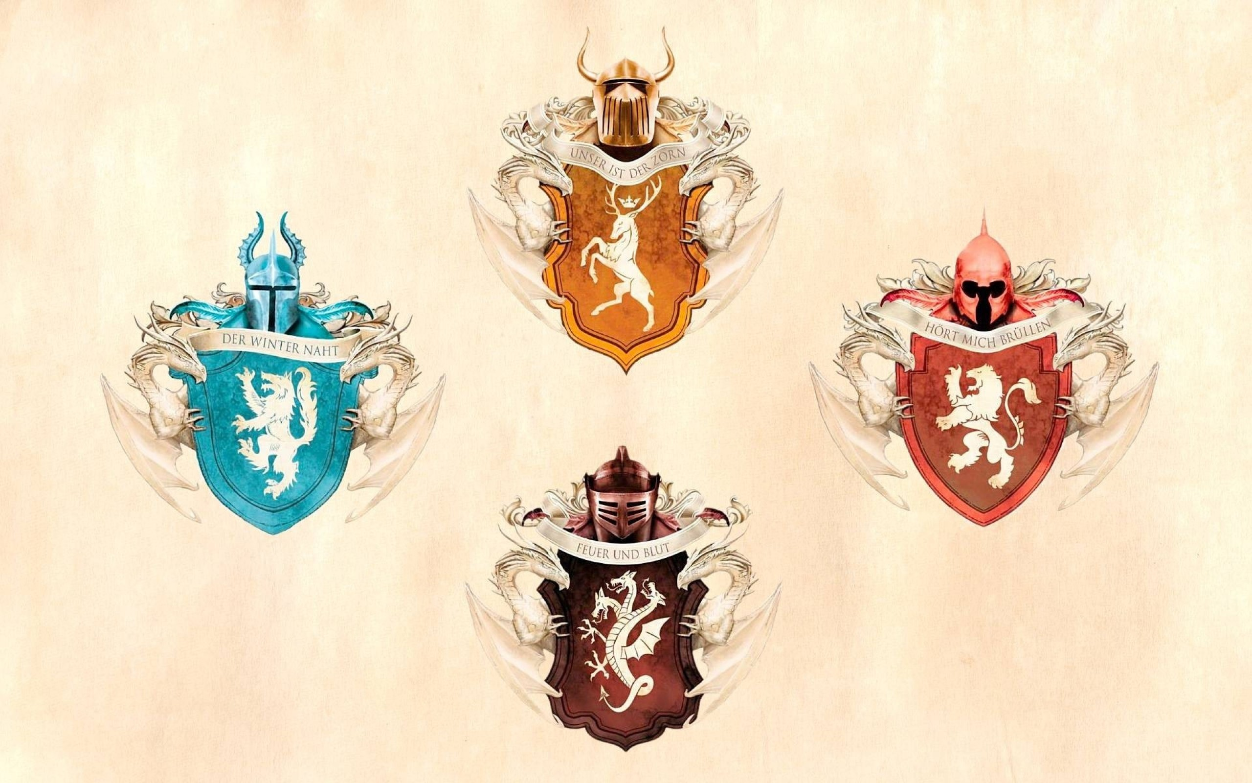 2560x1600  Wallpaper game of thrones, emblems, house stark, house targaryen,  house baratheon