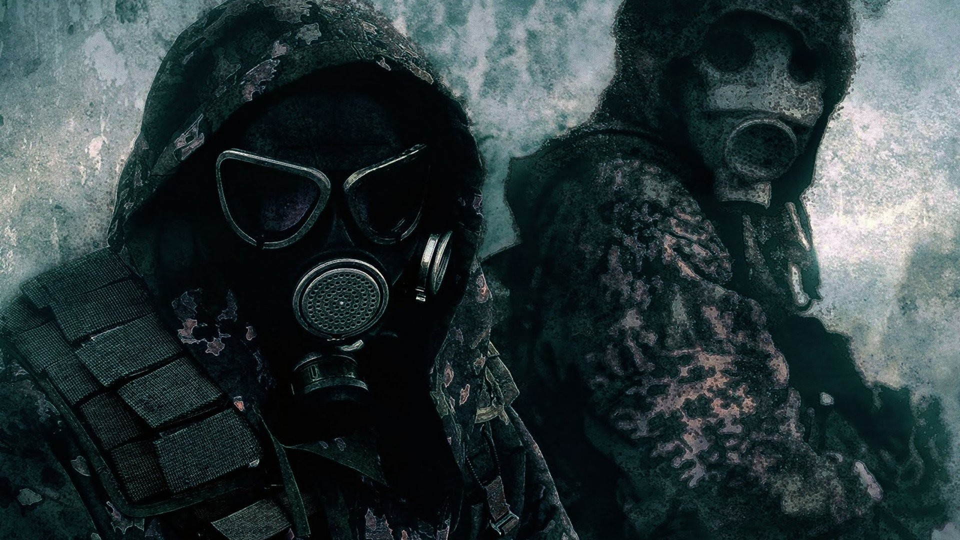 1920x1080 Gas Masks Camouflage Wallpaper At Dark Wallpapers