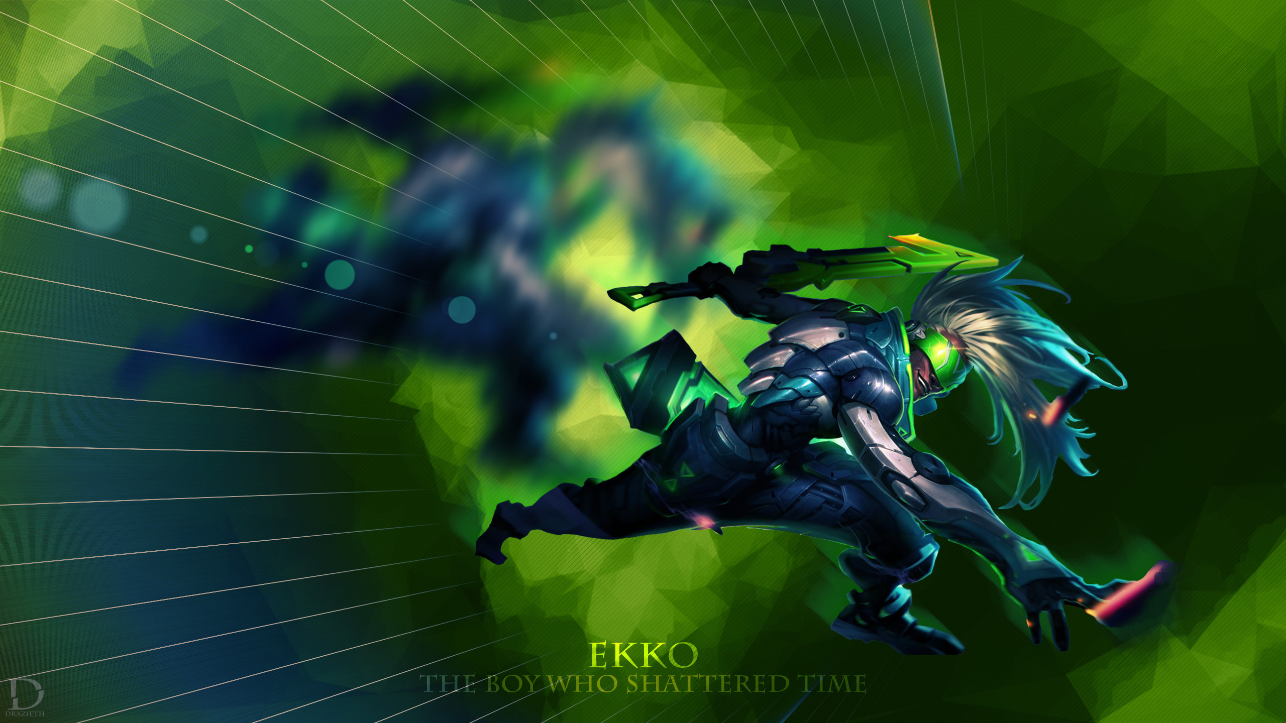 2560x1440 ... Project Ekko - League of Legends Wallpaper by Drazieth
