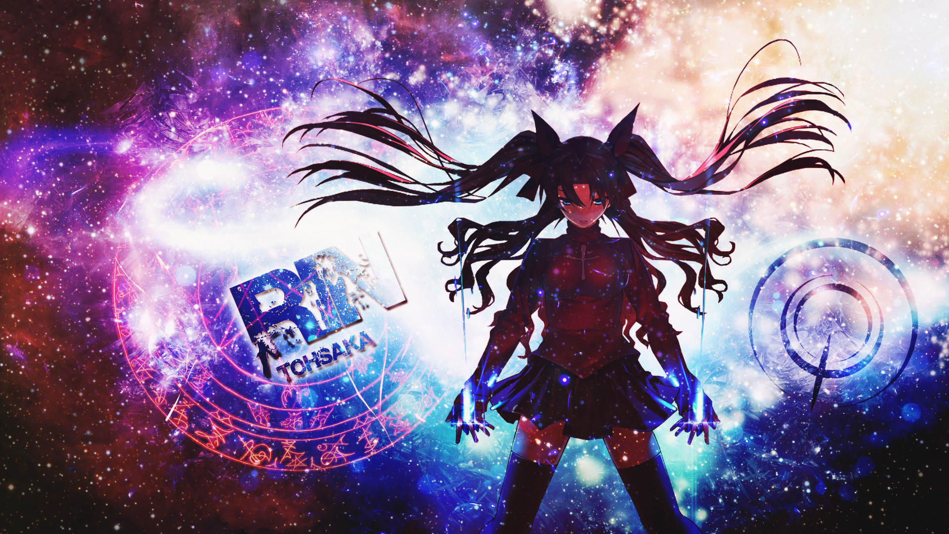 1920x1080 Anime - Fate/Stay Night: Unlimited Blade Works Rin Tohsaka Bakgrund