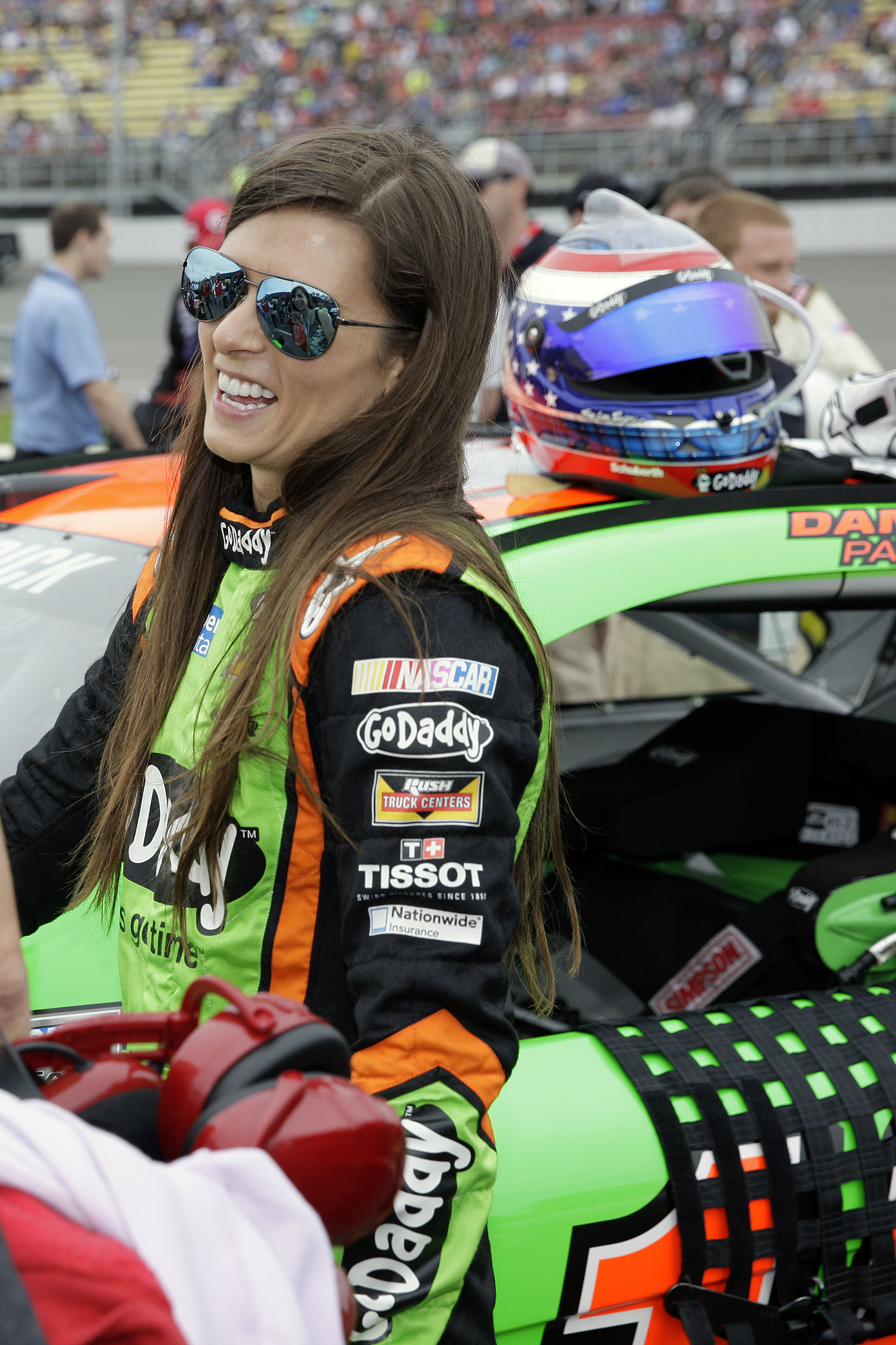 2000x3000 Danica Patrick is all smiles before the Pure Michigan 400 at Michigan  International Speedway. View