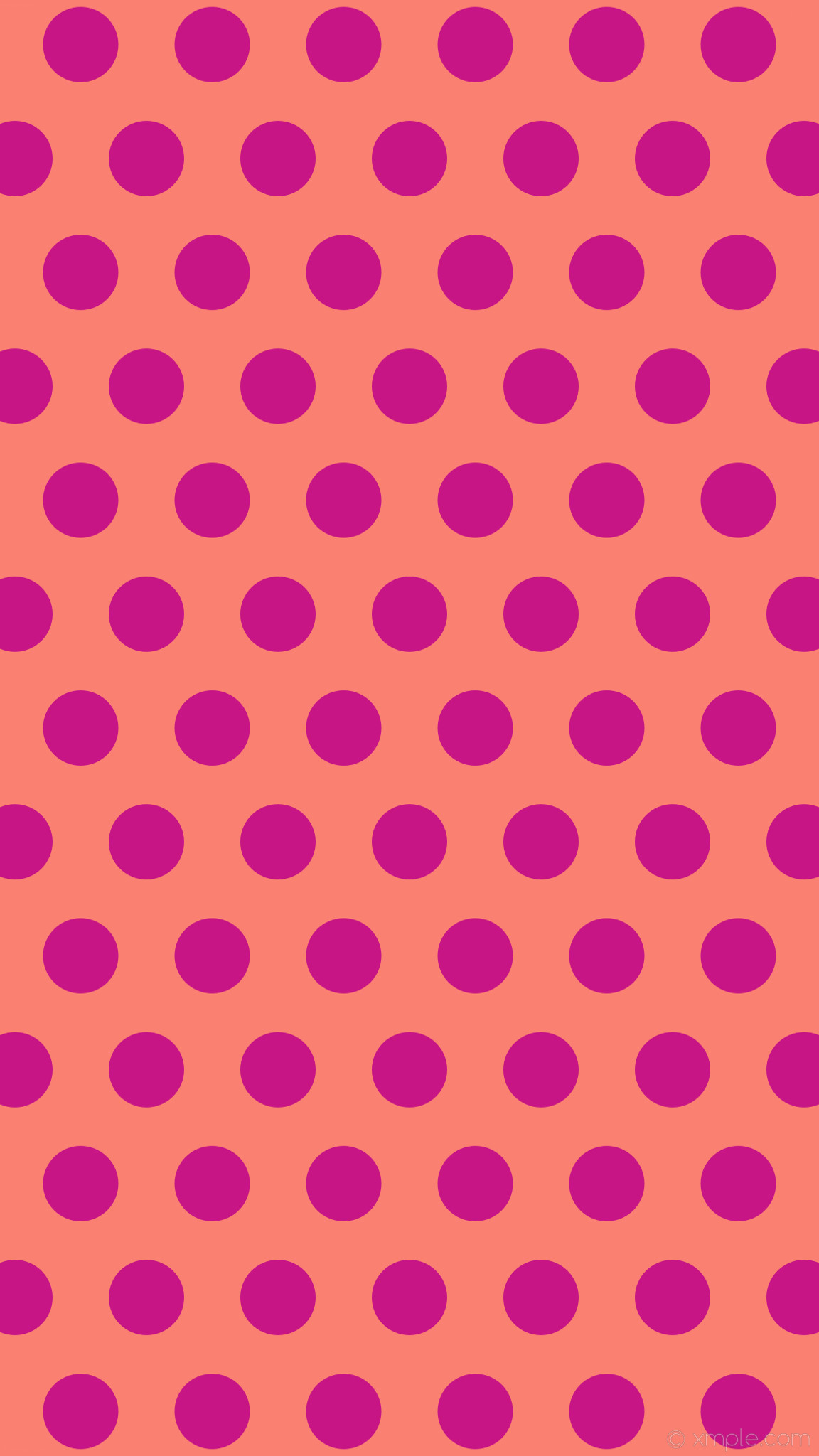 1152x2048 wallpaper pink polka dots red hexagon salmon medium violet red #fa8072  #c71585 0°