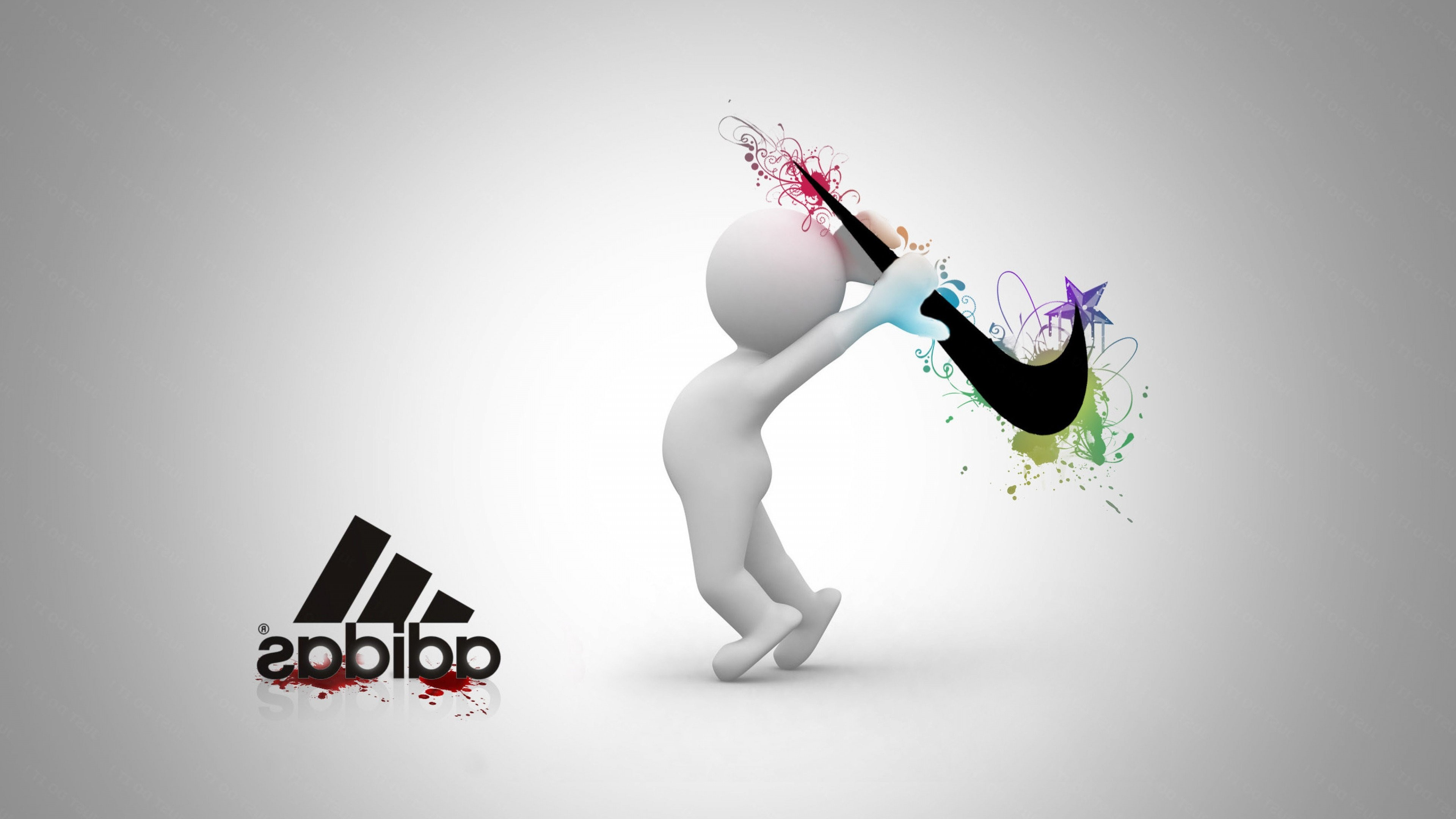 3840x2160 nike vs adidas wallpapers hd desktop wallpapers hd high definition windows 10 mac apple colourful