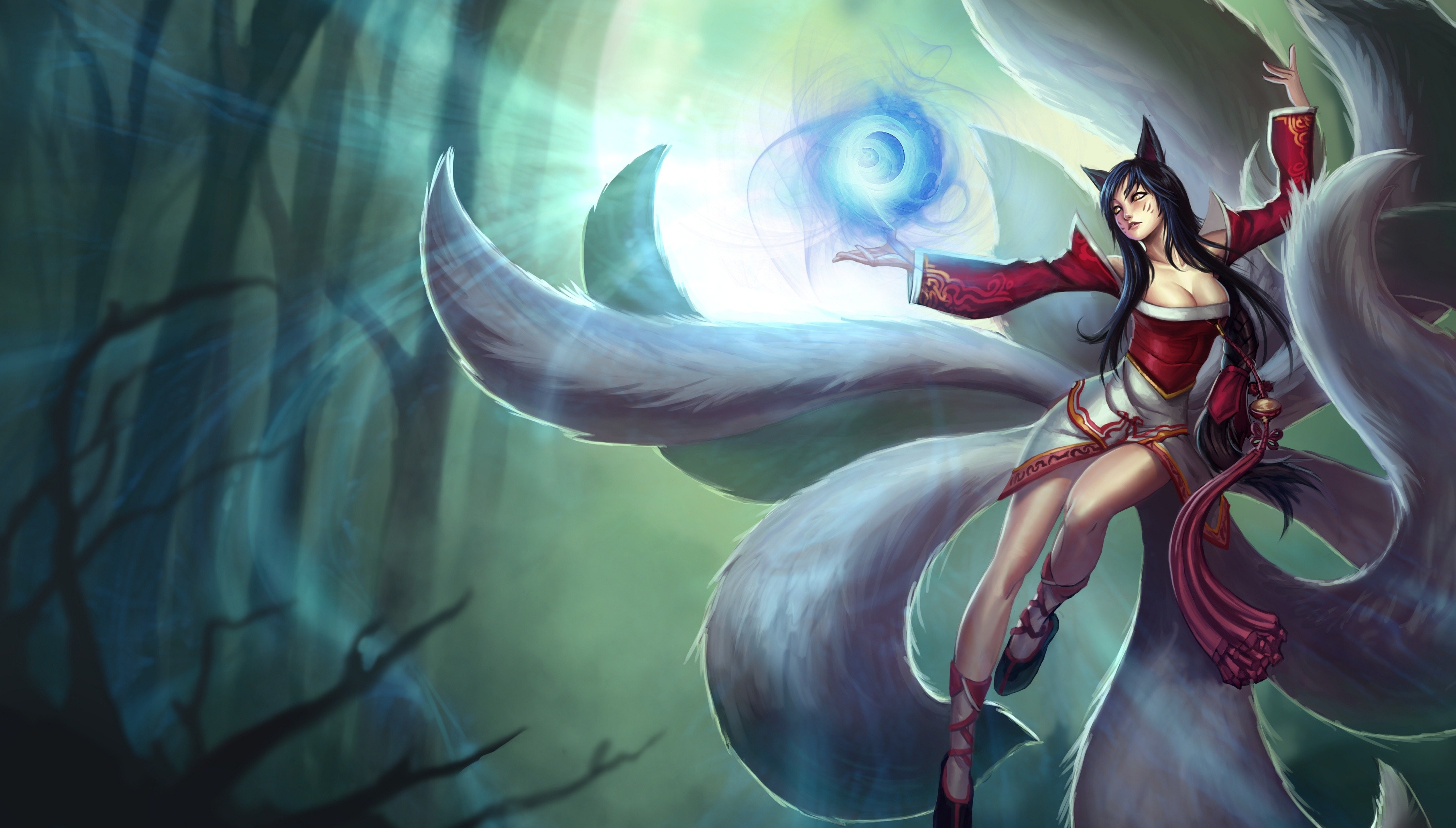 3628x2063 Ahri The Nine Tailed Fox #ConceptArt from the #VideoGame #LeagueOfLegends