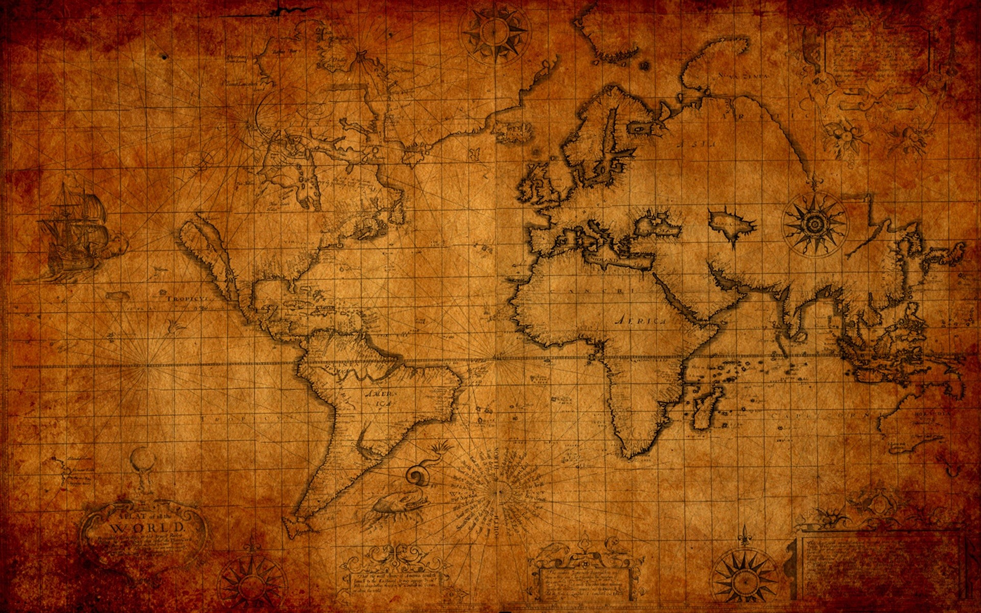 1920x1200 Old world map Digital Art HD desktop wallpaper, Earth wallpaper, Map  wallpaper - Digital Art no.