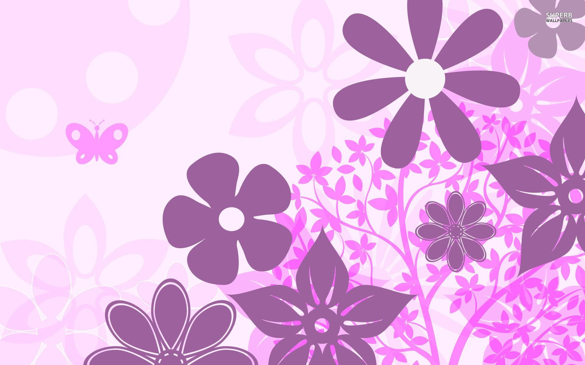 1920x1200 Purple floral pattern wallpaper - photo#9