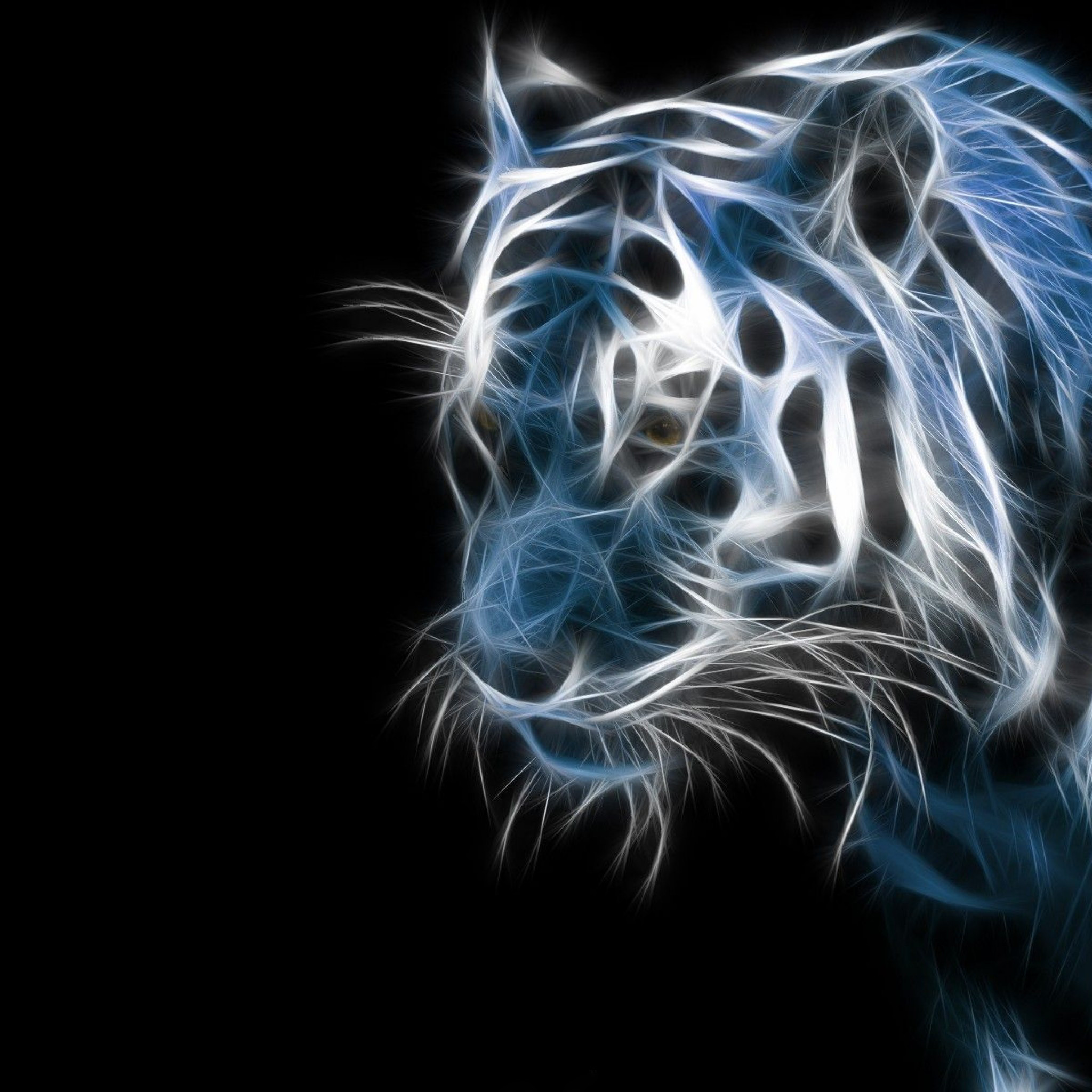 2048x2048 abstract blue apple background cool tiger fractal animal 2048×2048 hd  desktop wallpapers cool images download apple background wallpapers windows  colourfull ...