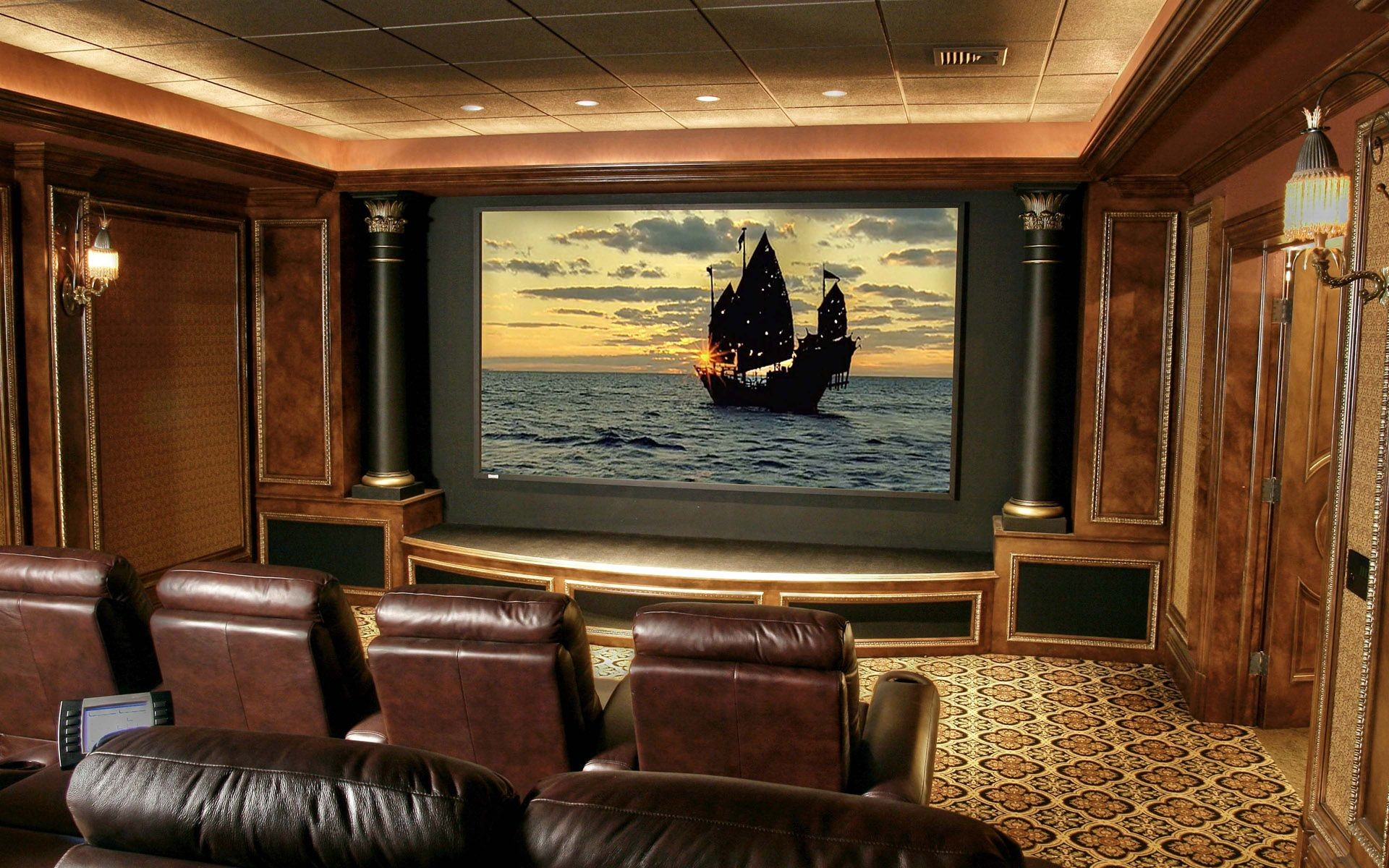 Color Ideas For Home Theater : Movie Theater Wallpaper (59+ images)