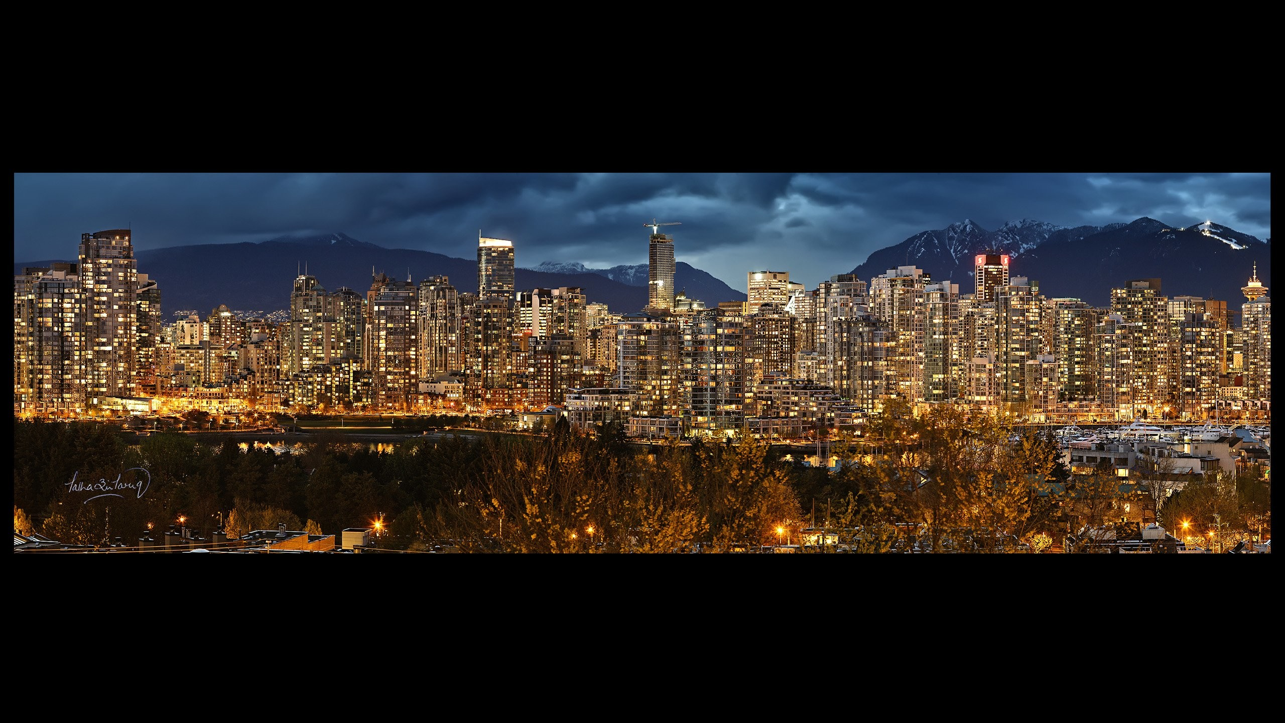 2560x1440 Vancouver Skyline Wallpaper