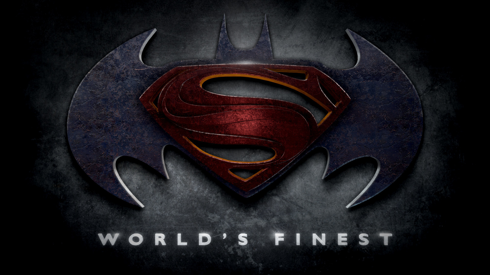 "1920x1080 Batman - Superman - Justice League Logos in the Style of ""Man of Steel"""