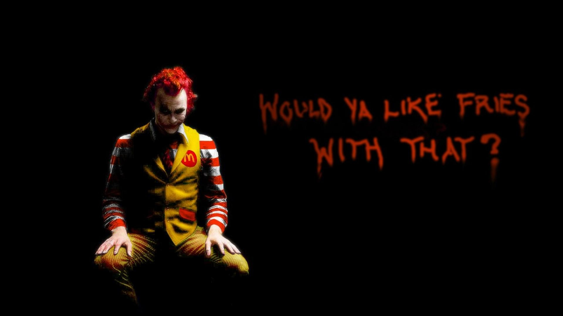 1920x1080 Batman quotes The Joker Ronald McDonald McDonalds / Wallpaper