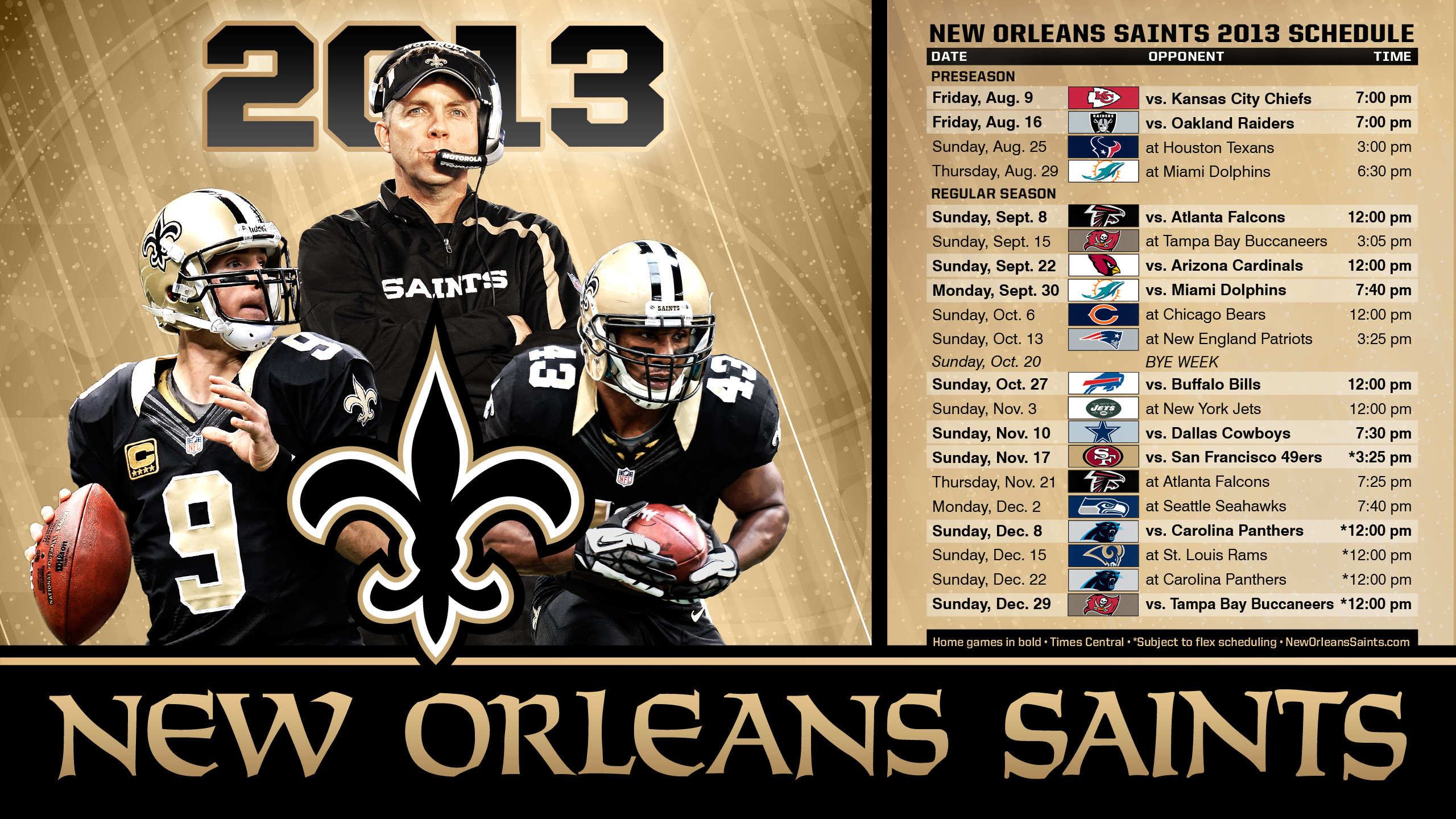 2560x1440 New Orleans Saints | Wallpapers