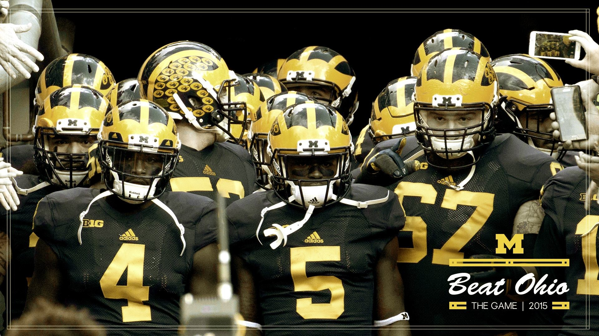 1920x1080 NCAA Football Demo Ohio State Buckeyes vs Michigan 1920×1080 Michigan  Wolverines Football Wallpapers (