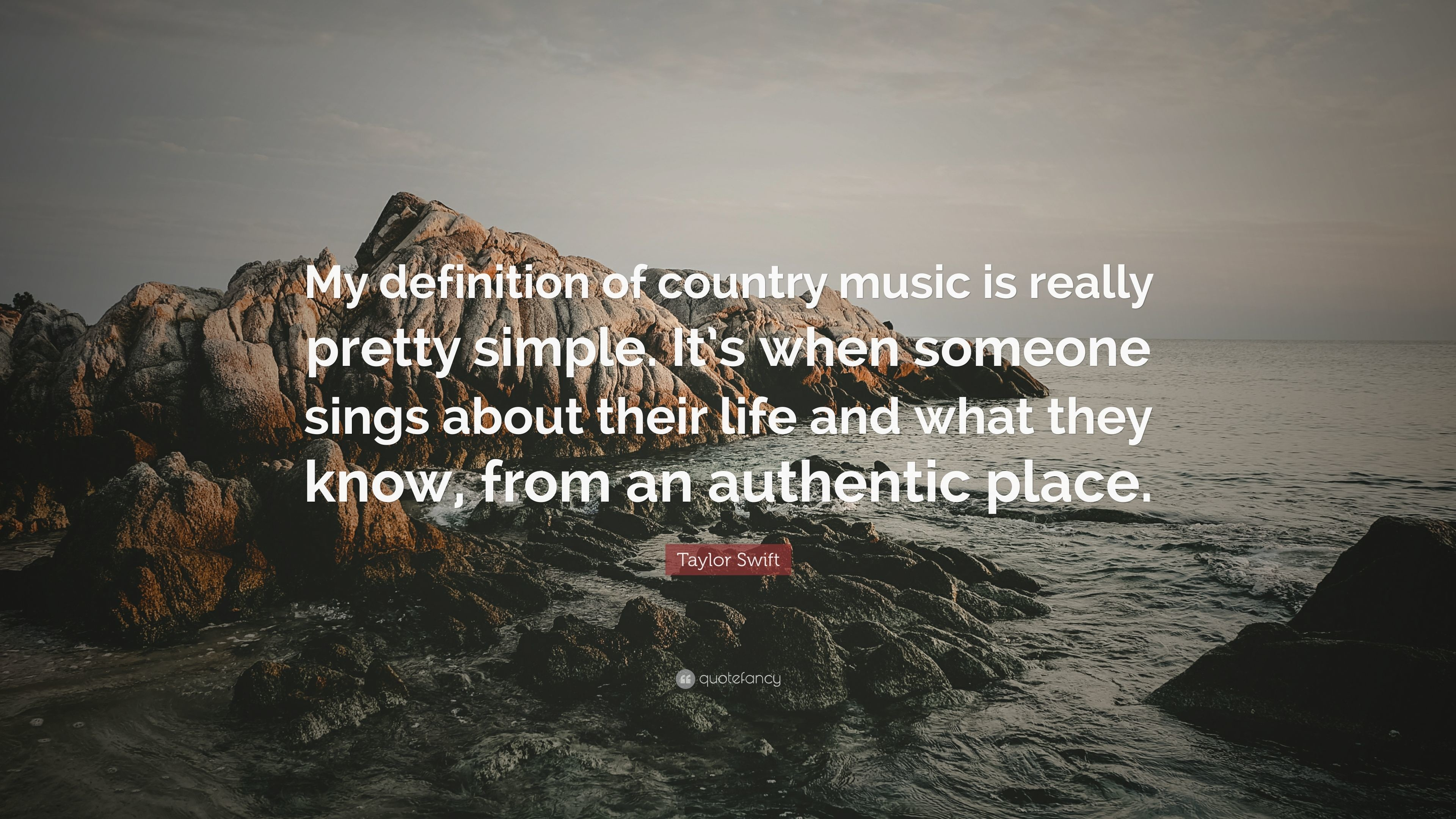 "3840x2160 Taylor Swift Quote: ""My definition of country music is really pretty  simple. It's"