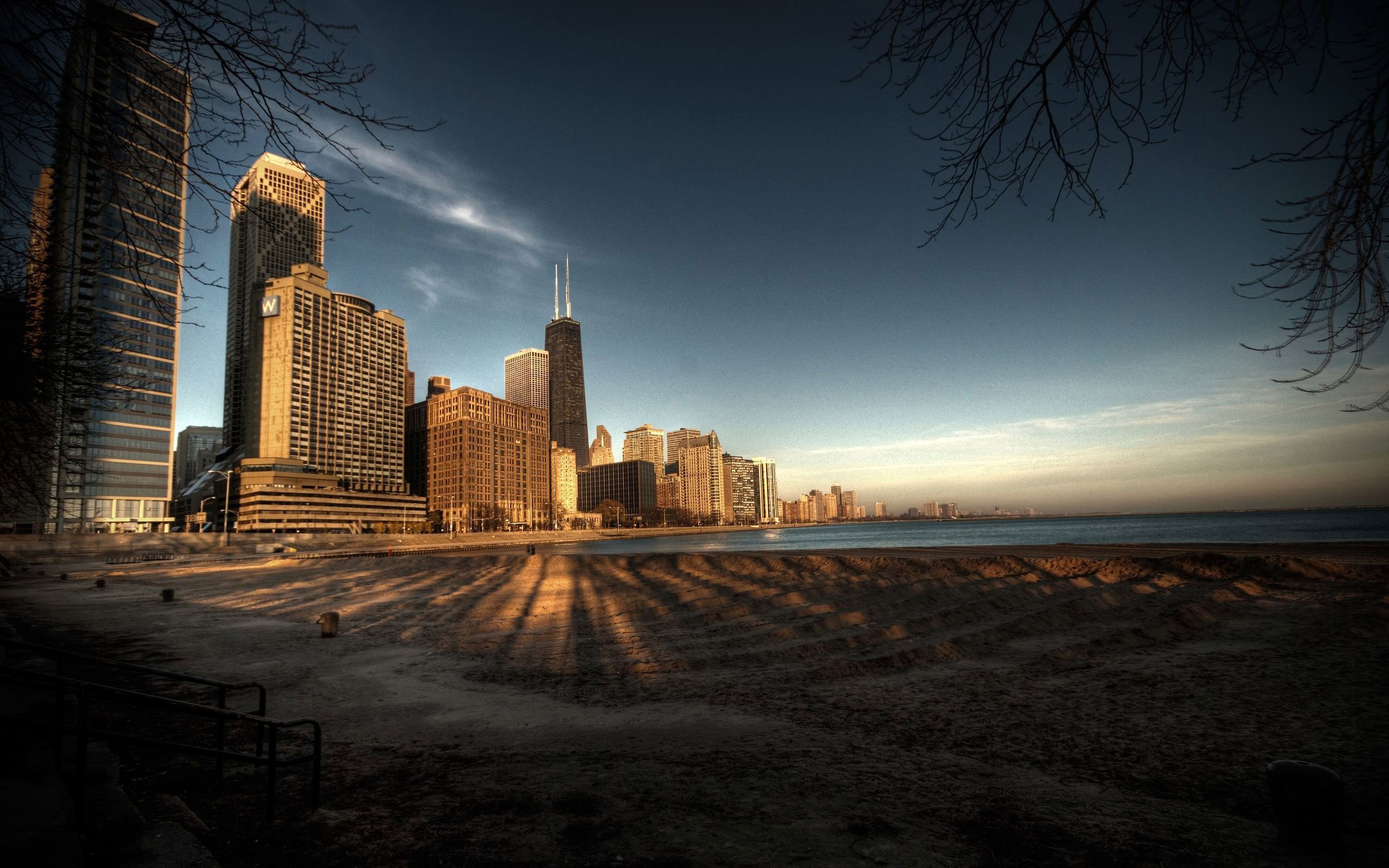 2560x1600 Urban Chicago Landscape Widescreen HD Wallpapers in HD