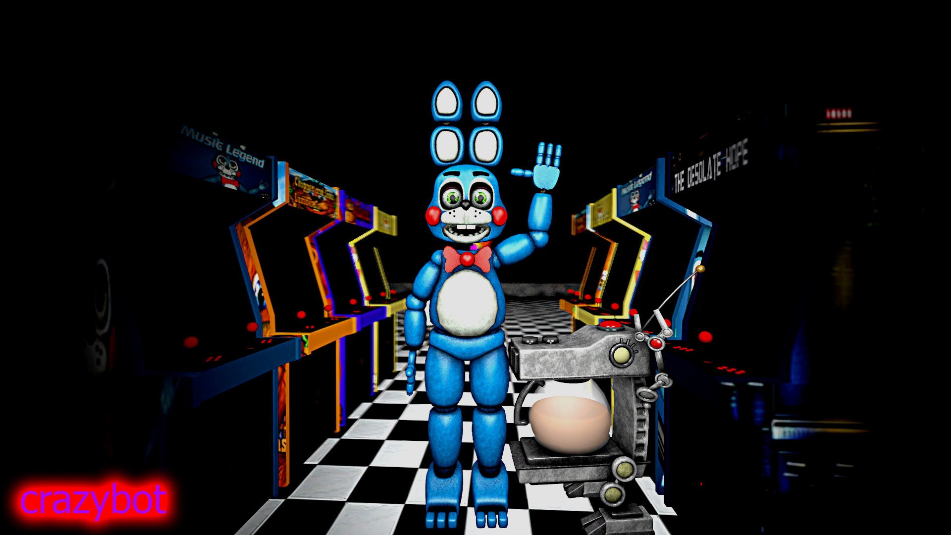 1920x1080 ... a coffee machine and toy bonnie 2.0 by crazybot1231