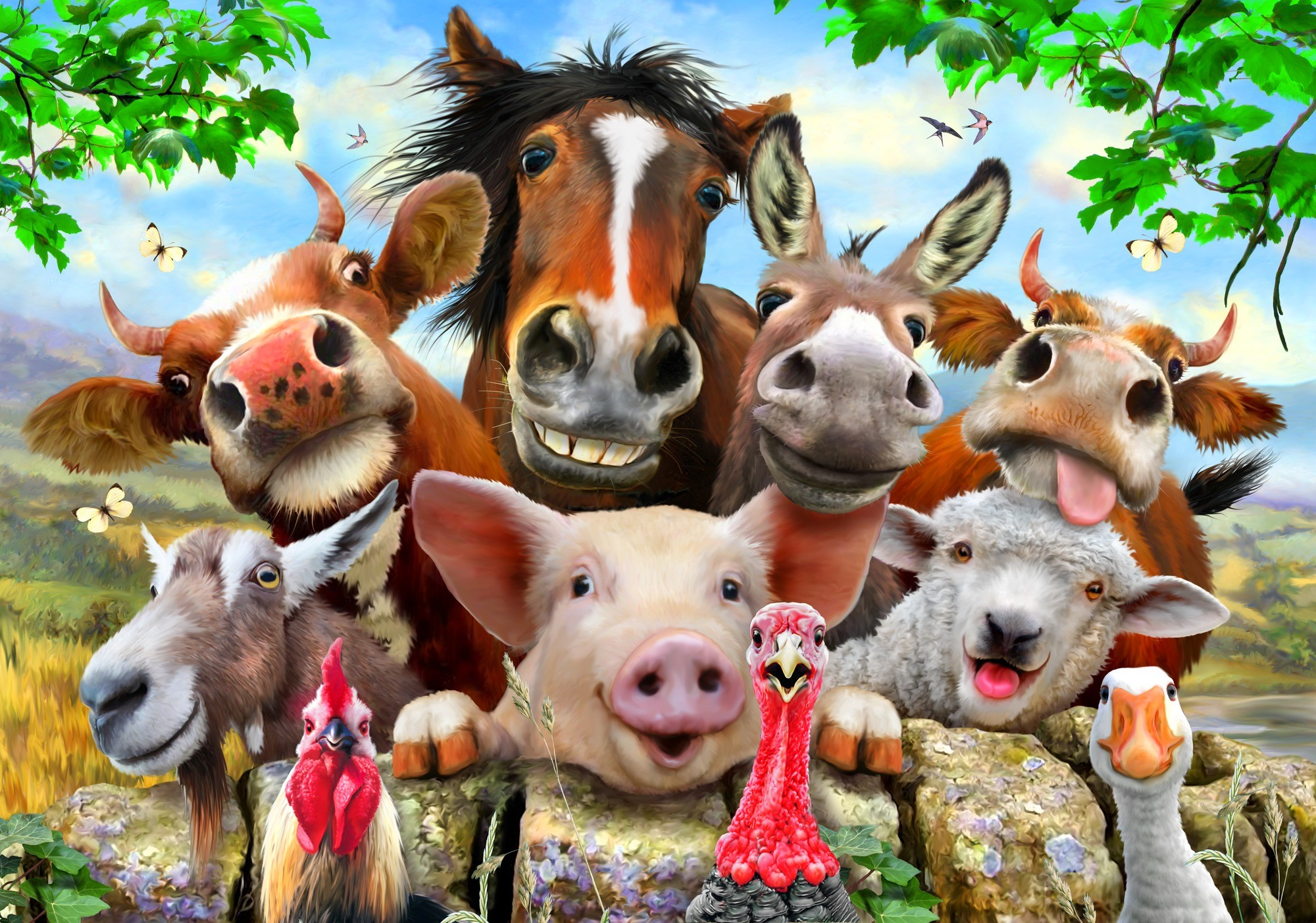Farm animals wallpaper 58 images - Animaux ferme photos ...