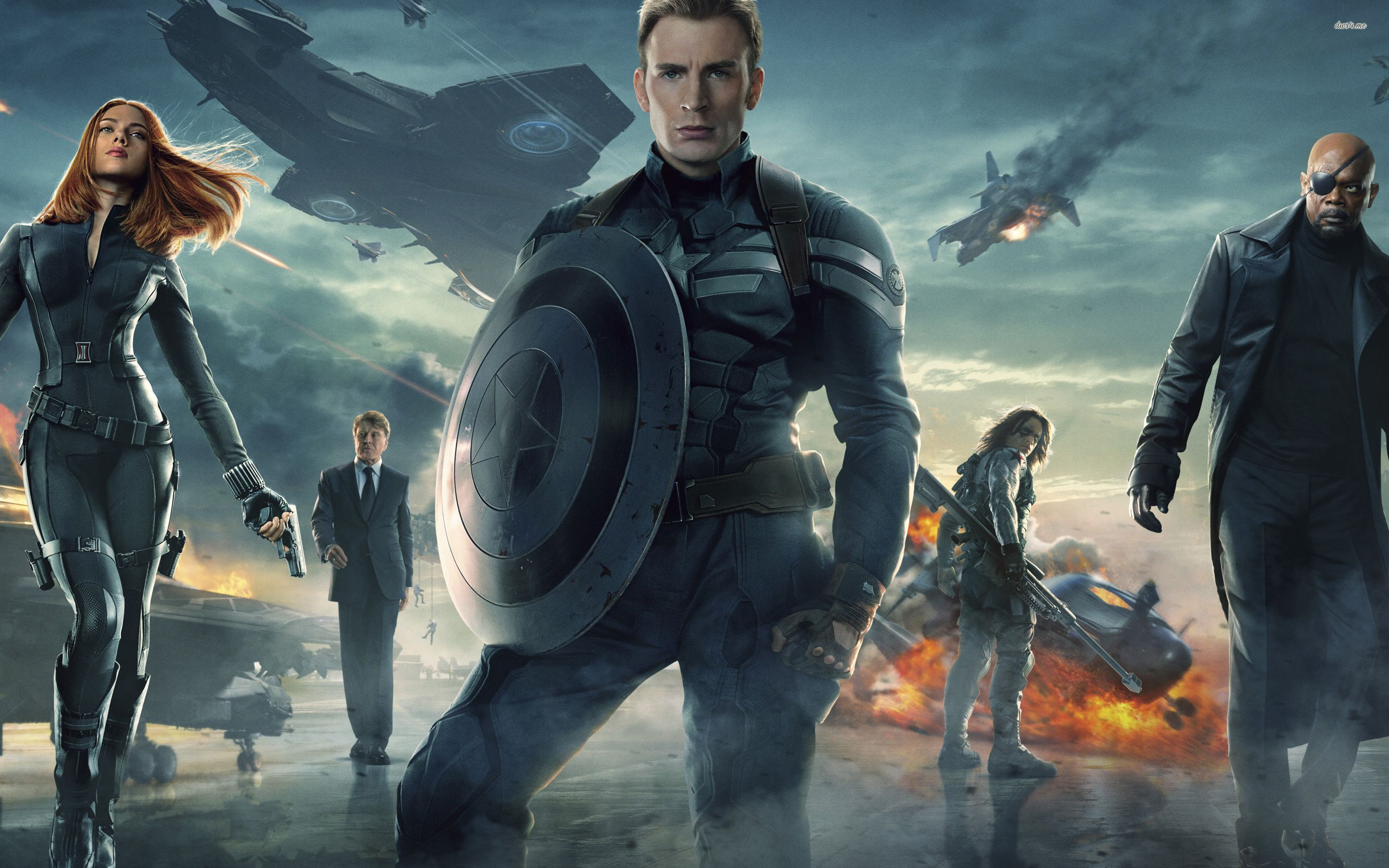 2880x1800 ... Captain America: The Winter Soldier wallpaper  ...