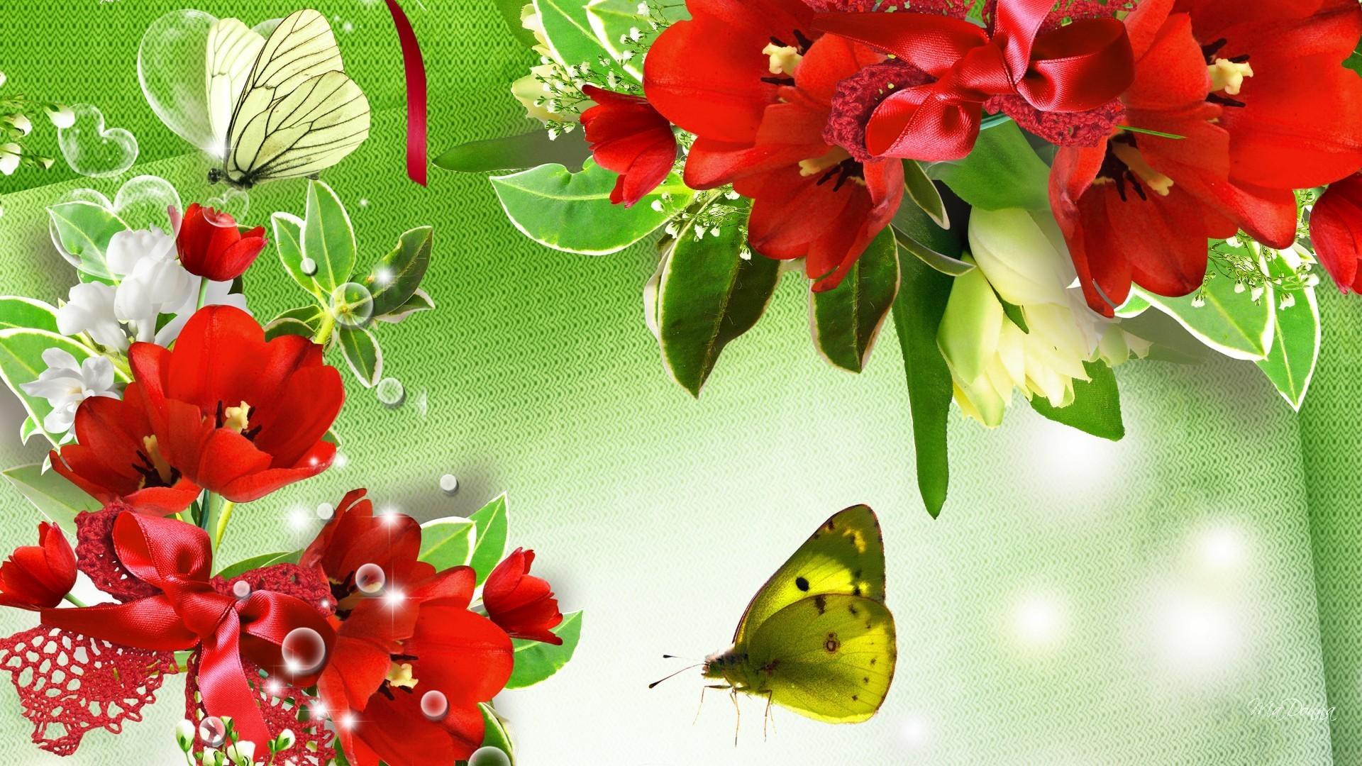 Green Butterfly Wallpa...