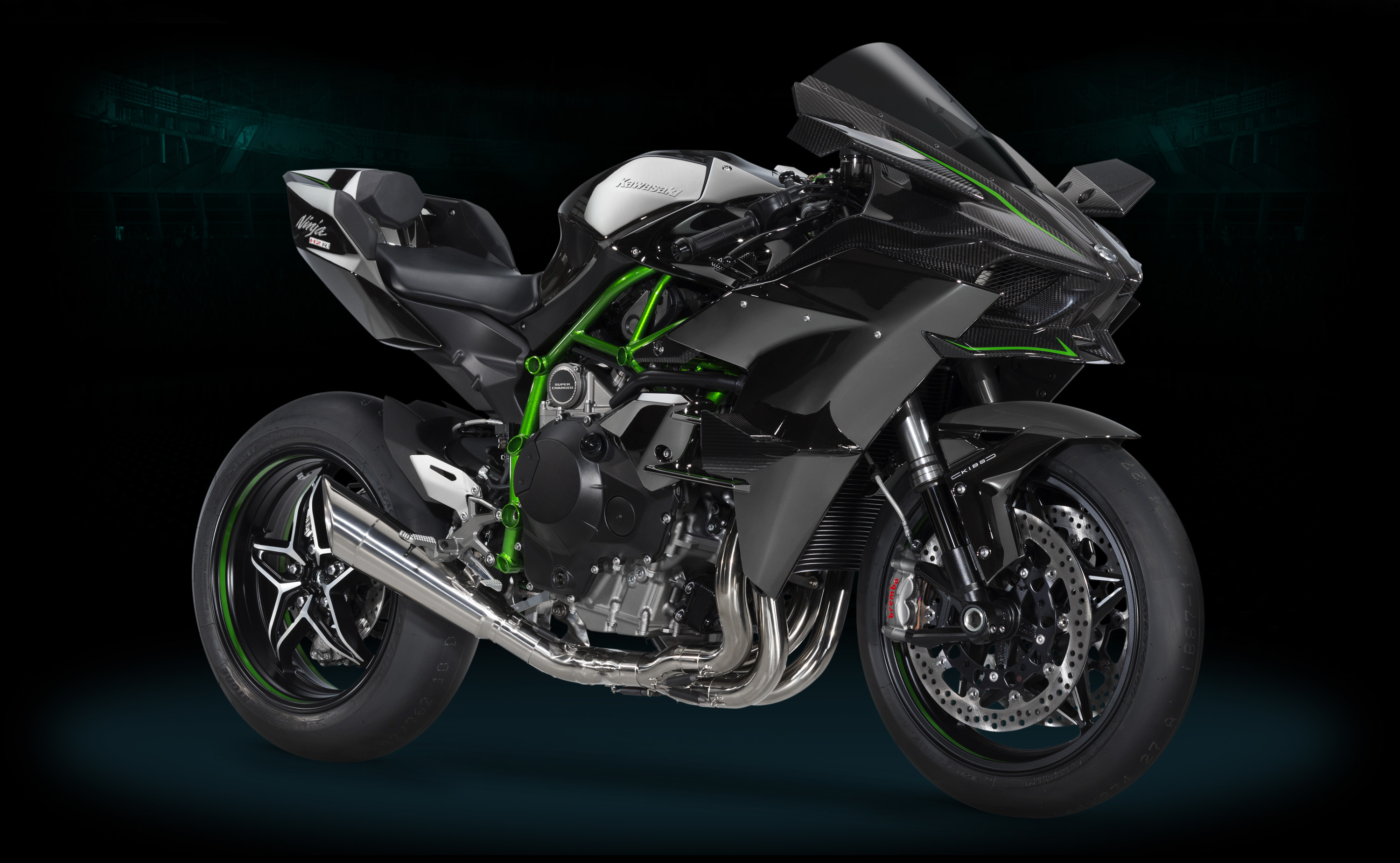Kawasaki Ninja H2R And H2 At EICMA