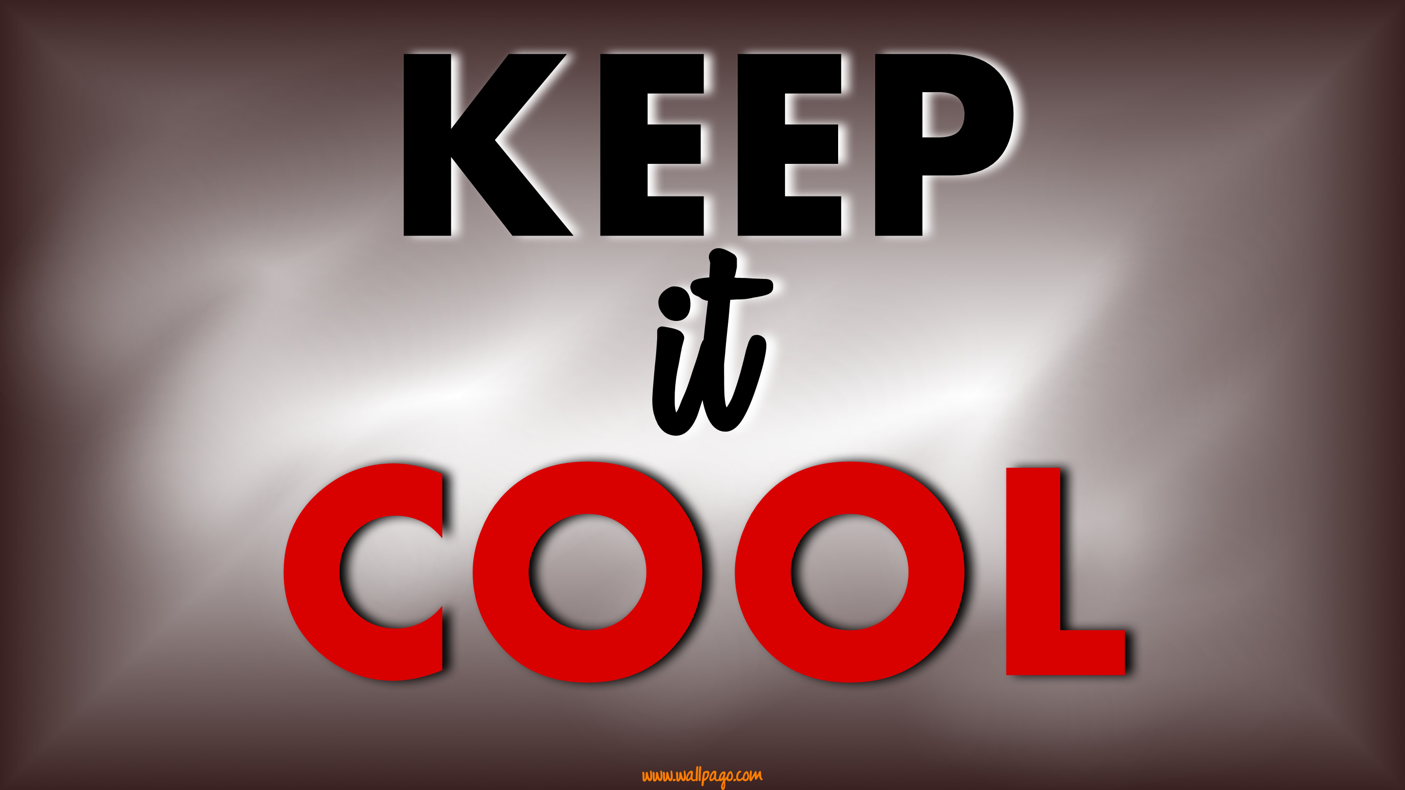 2880x1620 Keep it cool quote wallpapers. Keep it cool inspirational words. Unknown
