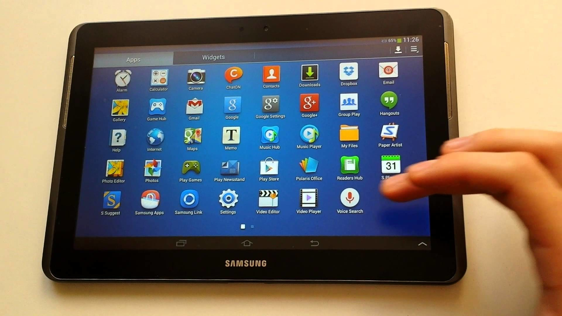 1920x1080 Samsung galaxy tab 2 10.1 GT-p5110 - Android update 4.2.2 official - YouTube