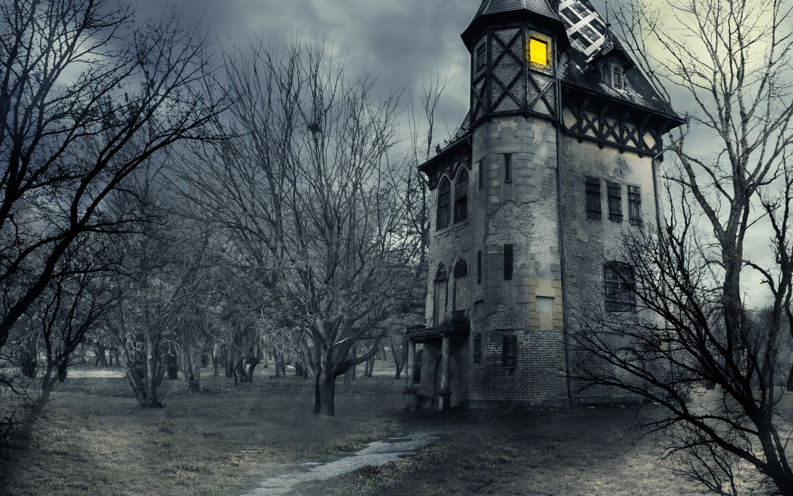 Halloween Haunted House Wallpaper (62+ images)