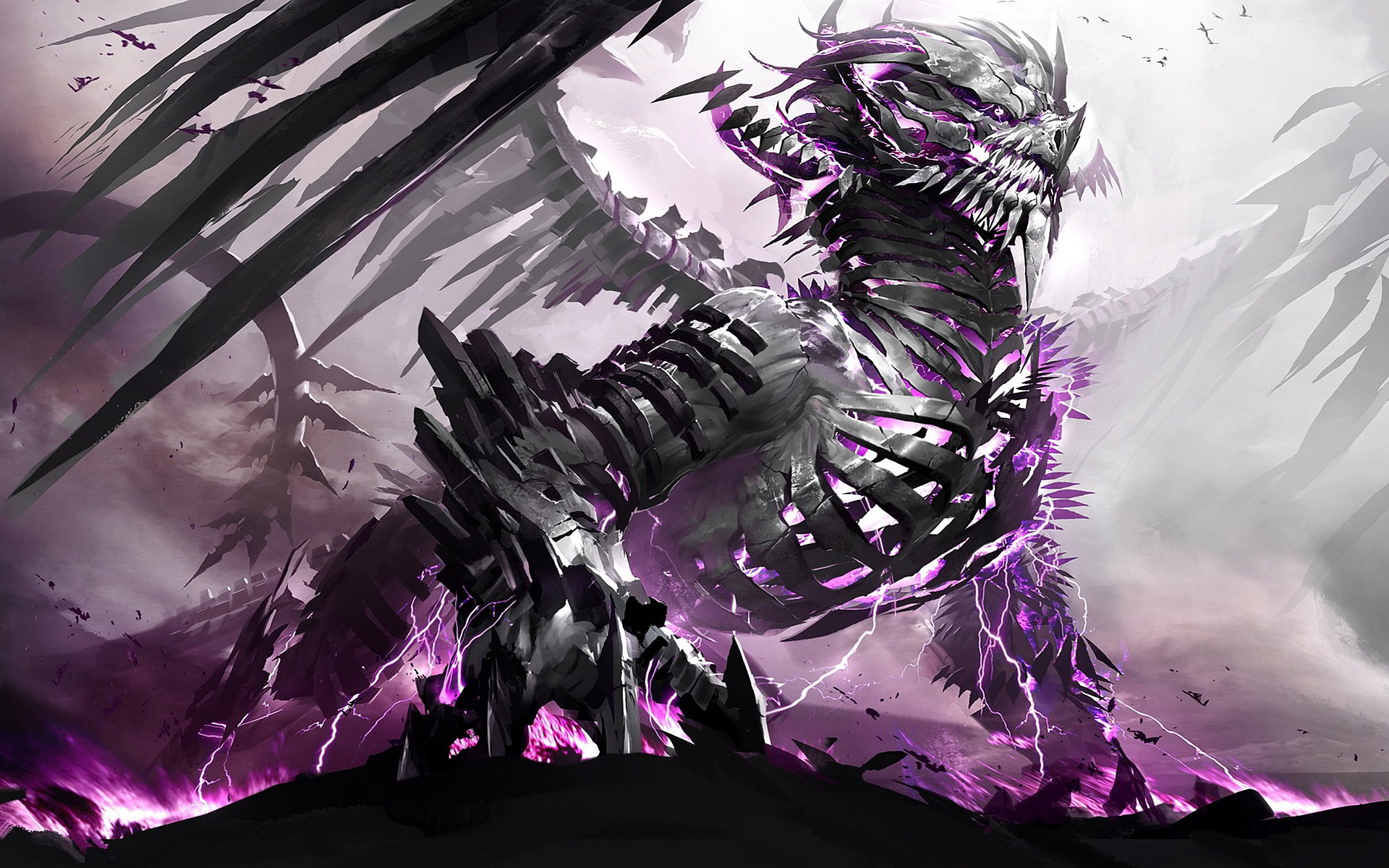 1920x1200 Skeleton Dragon Exclusive HD Wallpapers #4292