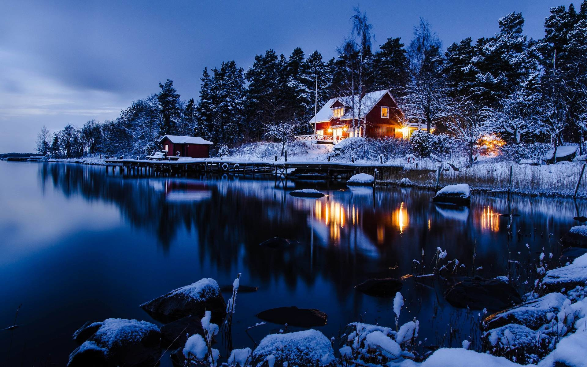 1920x1200 Winter Night Wallpapers - Full HD wallpaper search