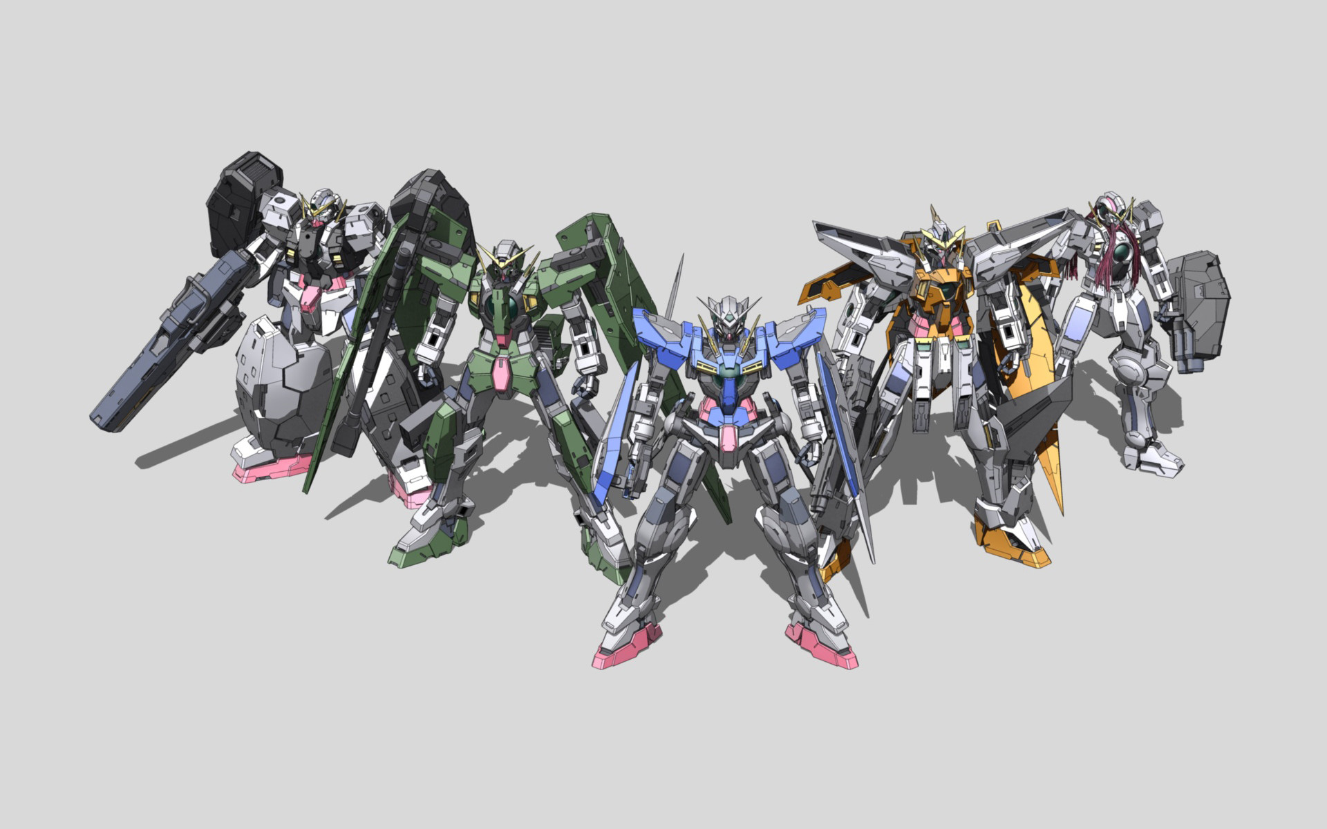 1920x1200 Tags: Anime, Mobile Suit Gundam 00, Mobile Suit Gundam Wing, Wallpaper