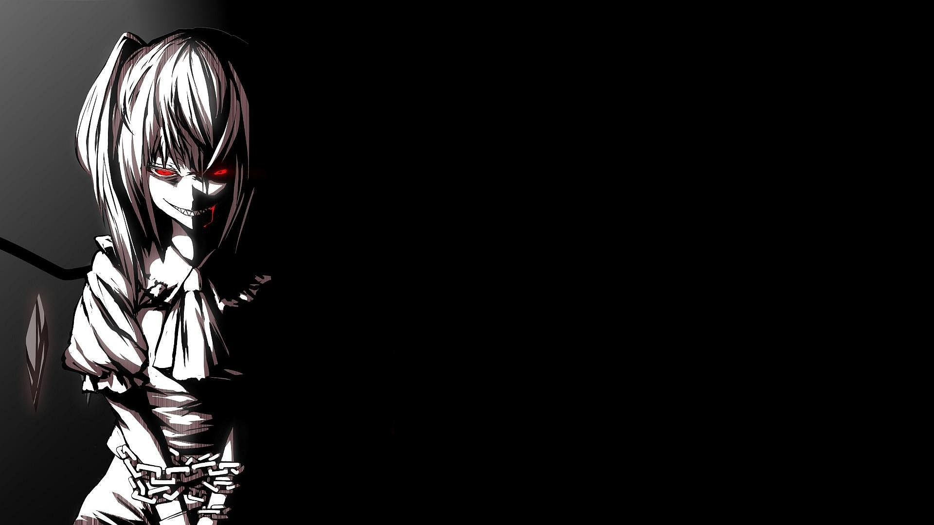 X X Wallpaper Touhou Collection Girl Blood Circuit Evil Smile