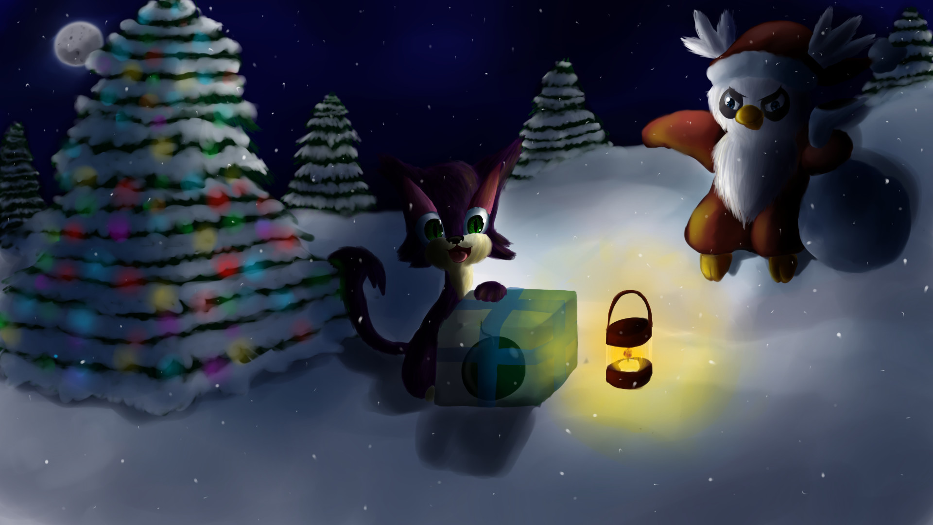 1920x1080 ... Bad Santa ~Christmas Pokemon Wallpaper~ by Chicorii