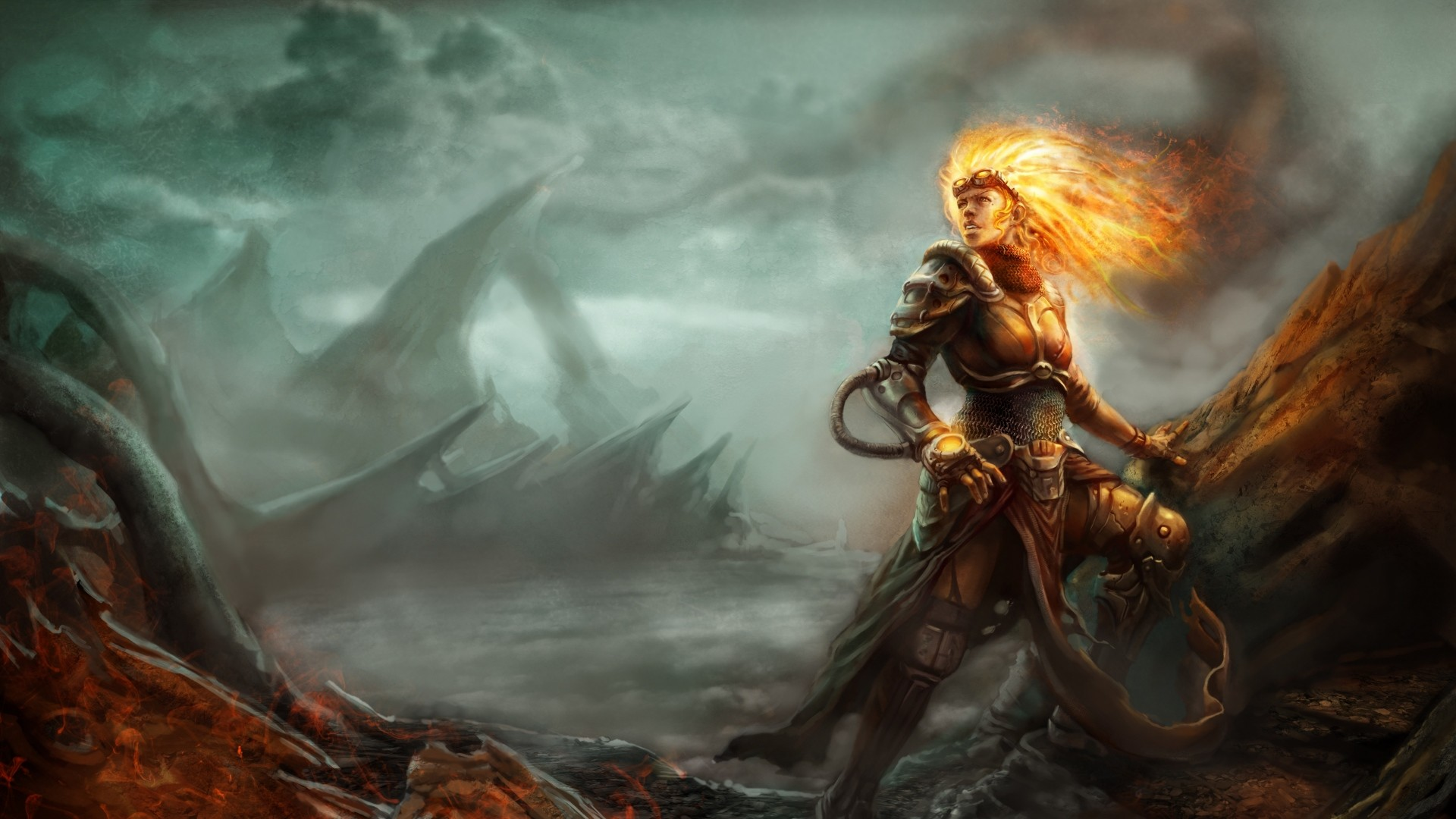 1920x1080 Preview wallpaper magic, the gathering, chandra, art