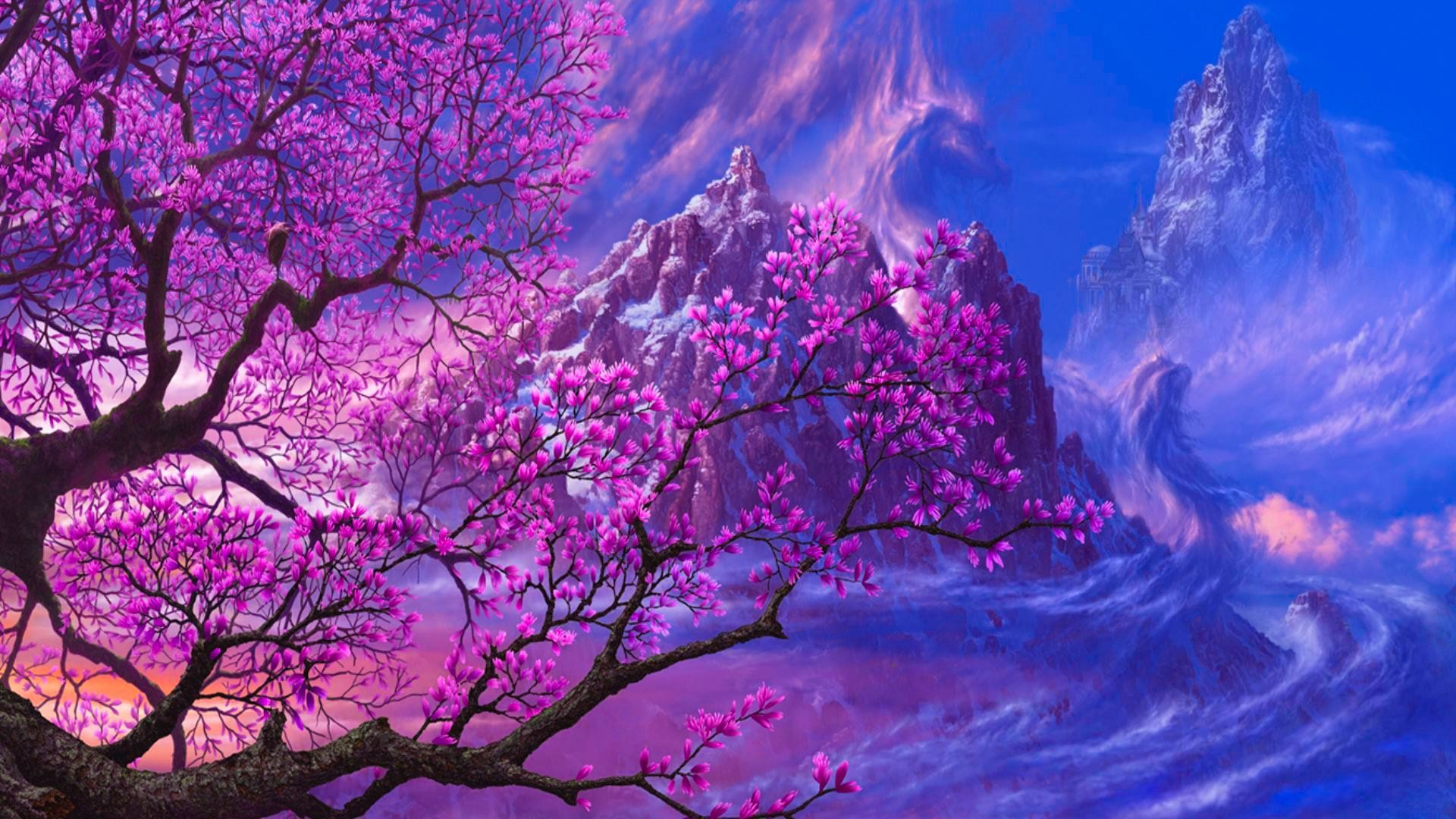 Cherry blossom tree wallpaper 60 images - Anime cherry blossom wallpaper ...