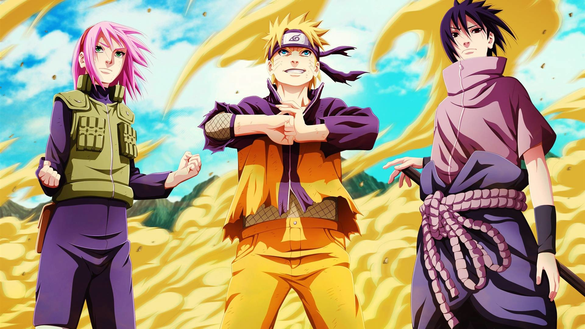 1920x1080 Naruto Sakura Sasuke Team 7 Wallpaper HD #9330 Wallpaper | High .
