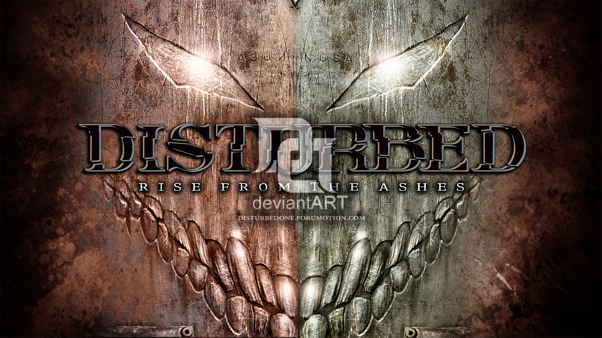 1920x1080 ... morbustelevision2 Disturbed - Rise From The Ashes by morbustelevision2