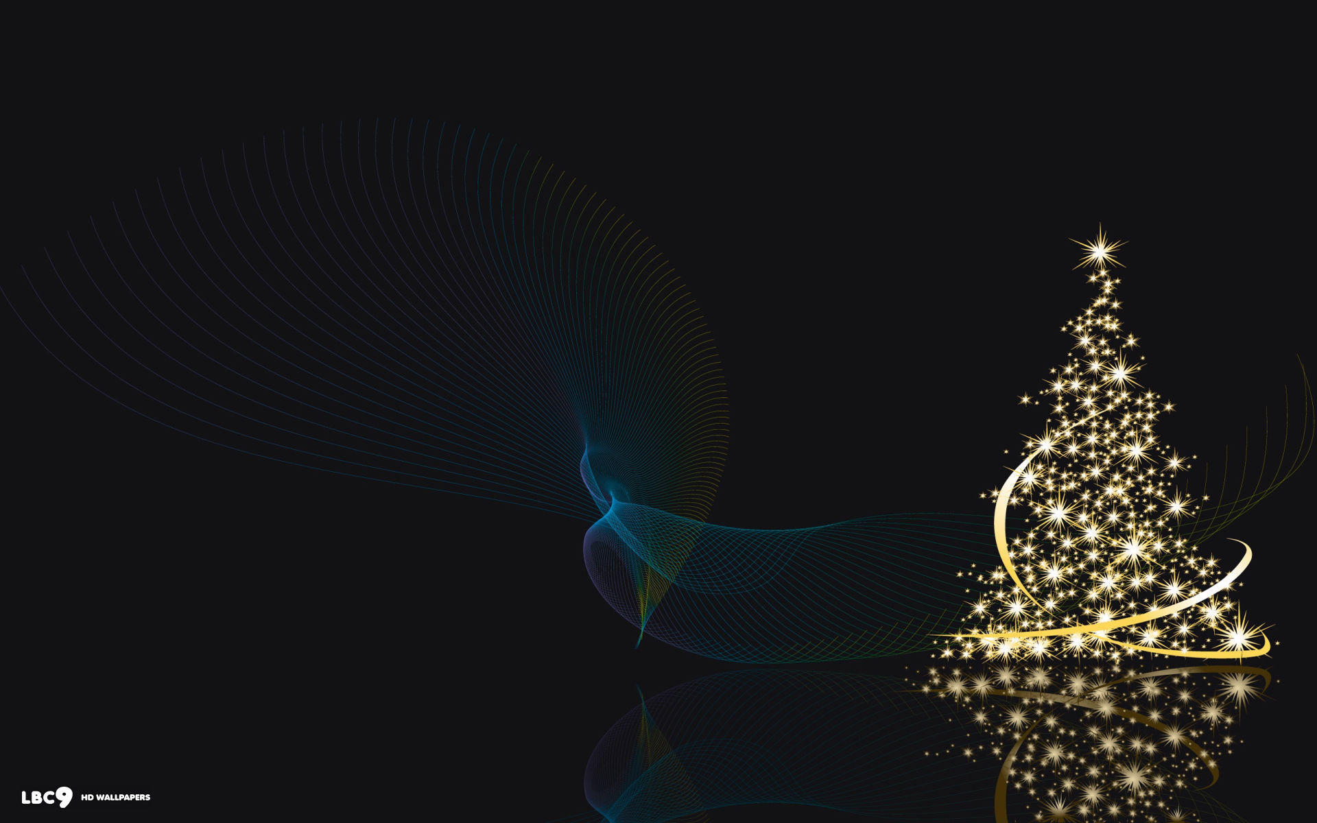 1920x1200 christmas tree shiny lights ribbons abstract holiday desktop background