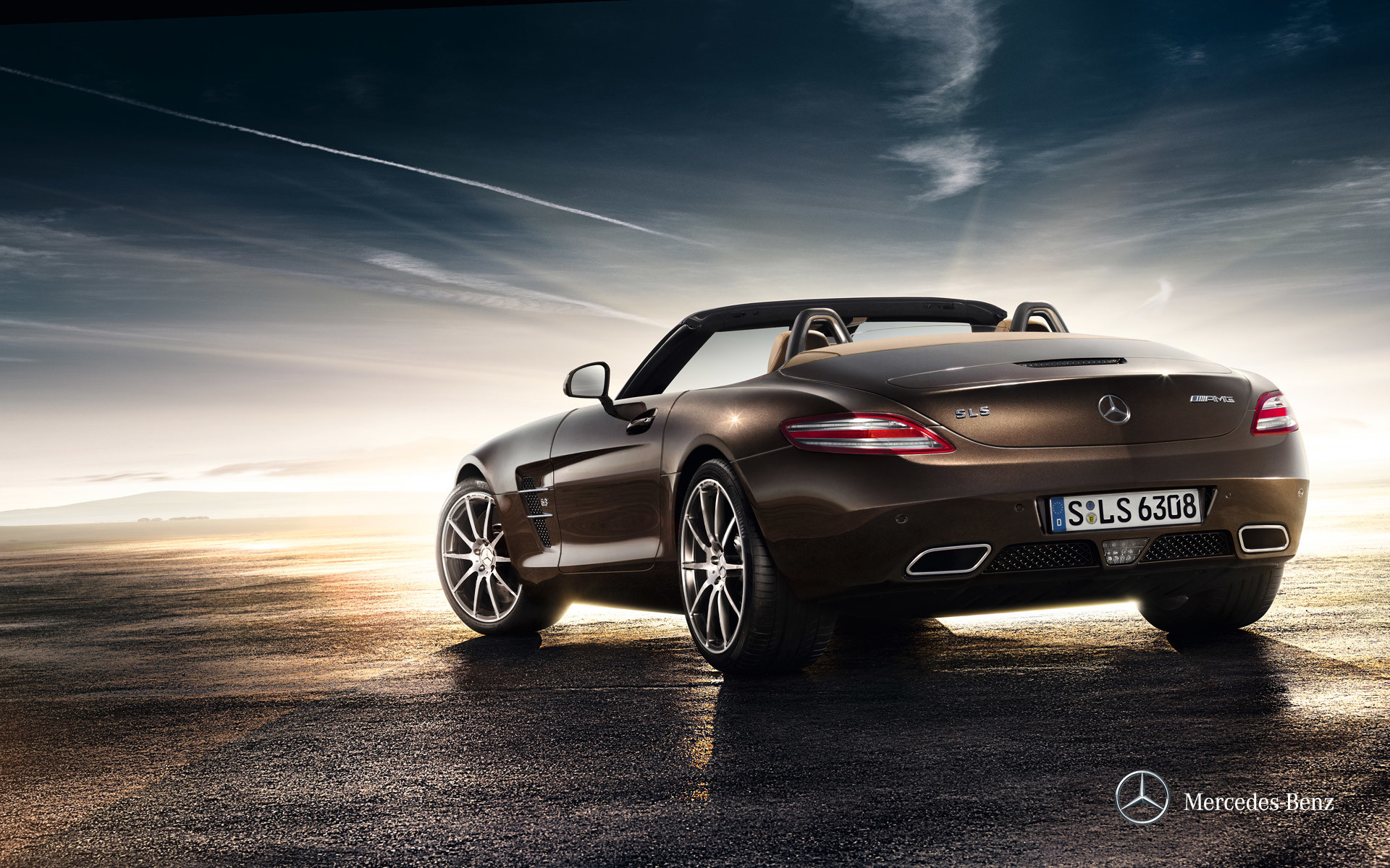 1920x1200 2012 Mercedes-Benz SLS AMG Roadster: Wallpapers