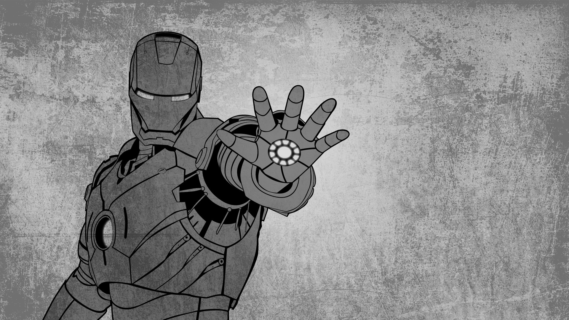 1920x1080  Iron Man Grunge Artwork